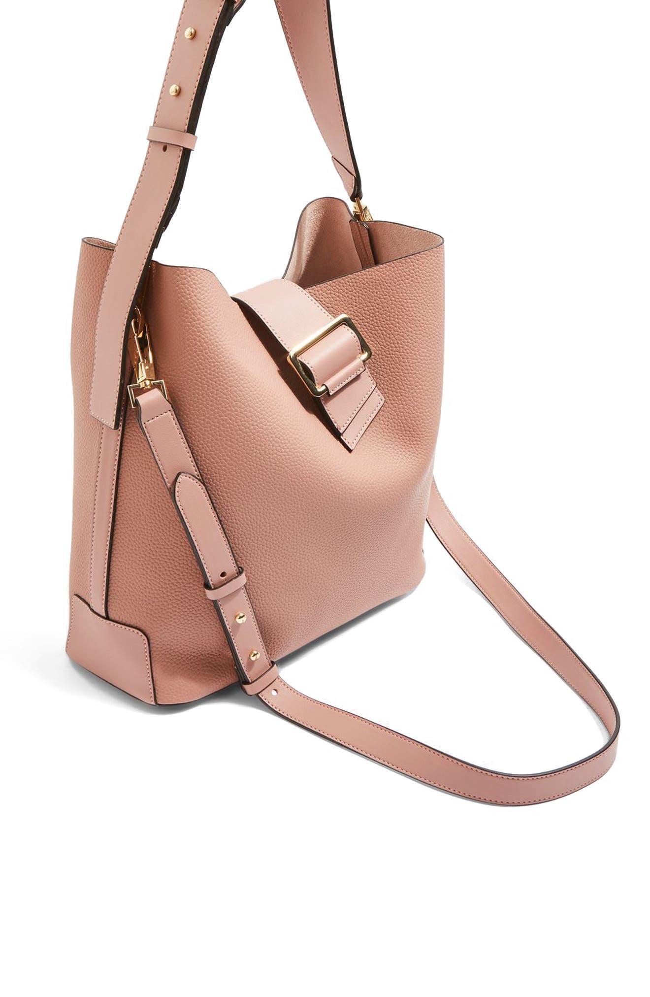 Seema Buckle Hobo Bag,                             Alternate thumbnail 2, color,                             Pink Multi