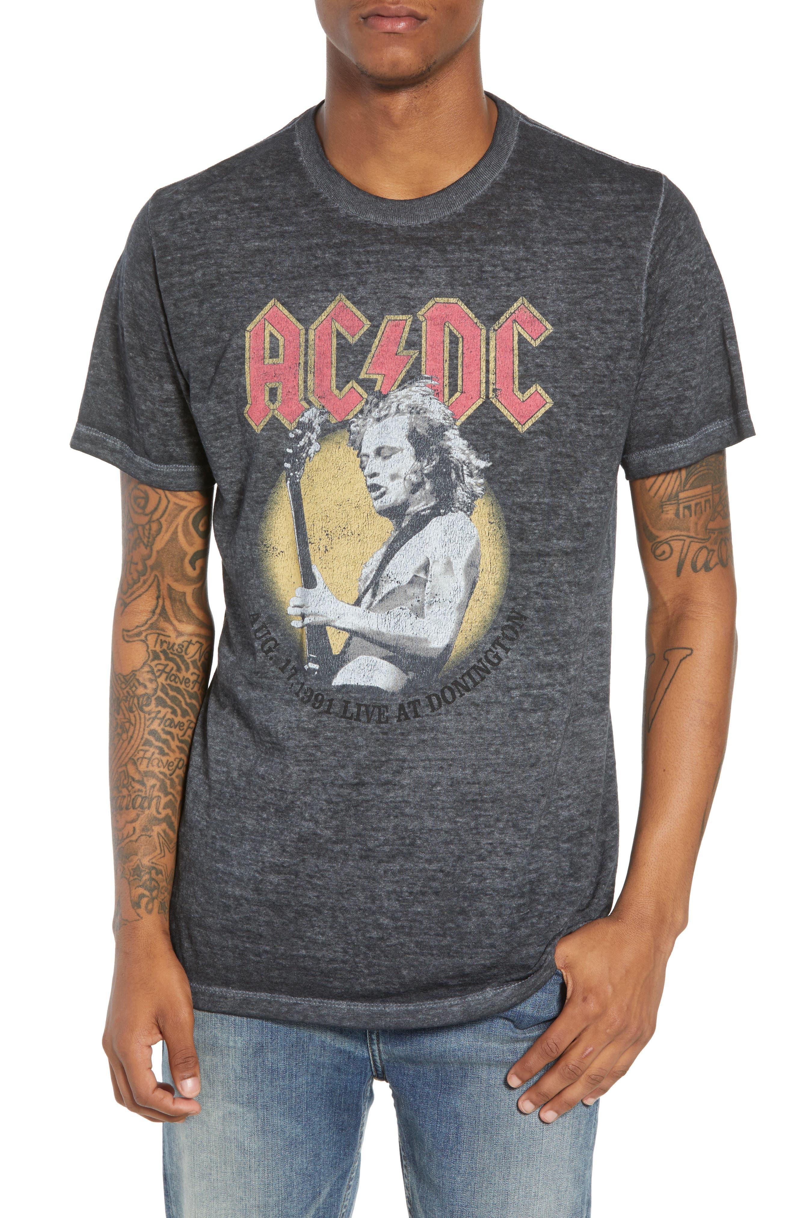 AC/DC Live at The Donington T-Shirt,                         Main,                         color, Grey Acdc Burnout