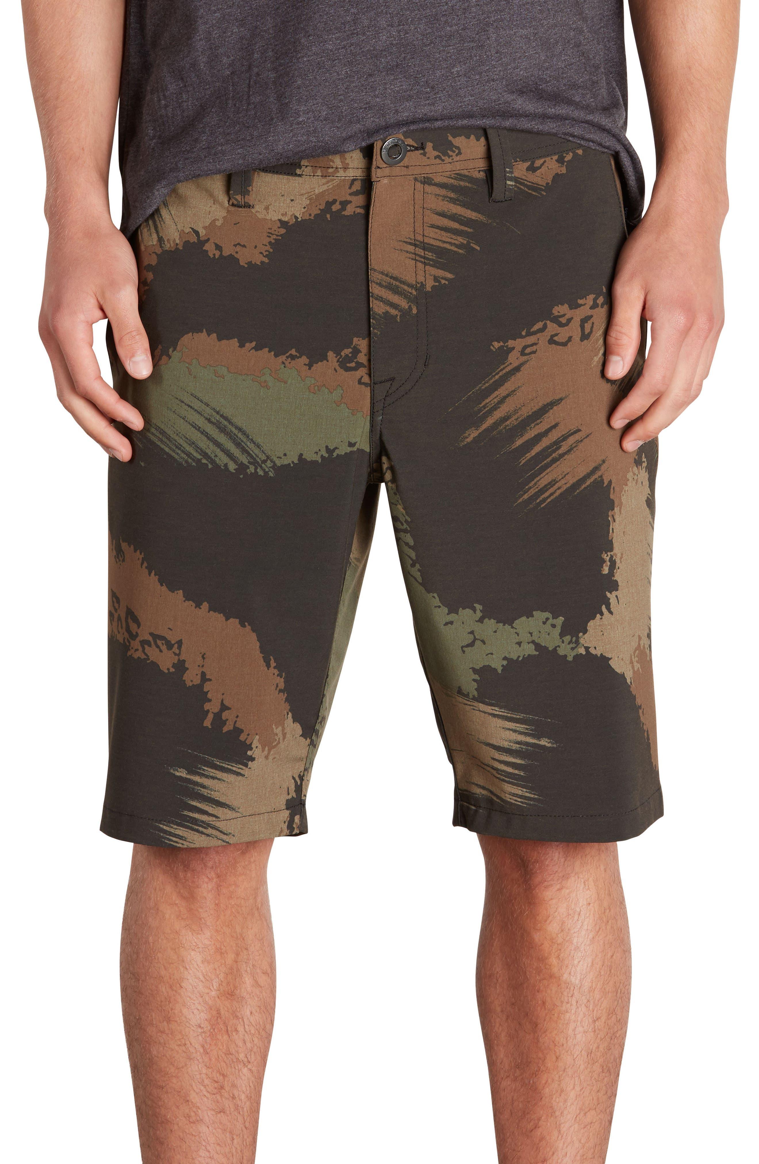 Surf N' Turf Mix Hybrid Shorts,                             Main thumbnail 1, color,                             Camouflage