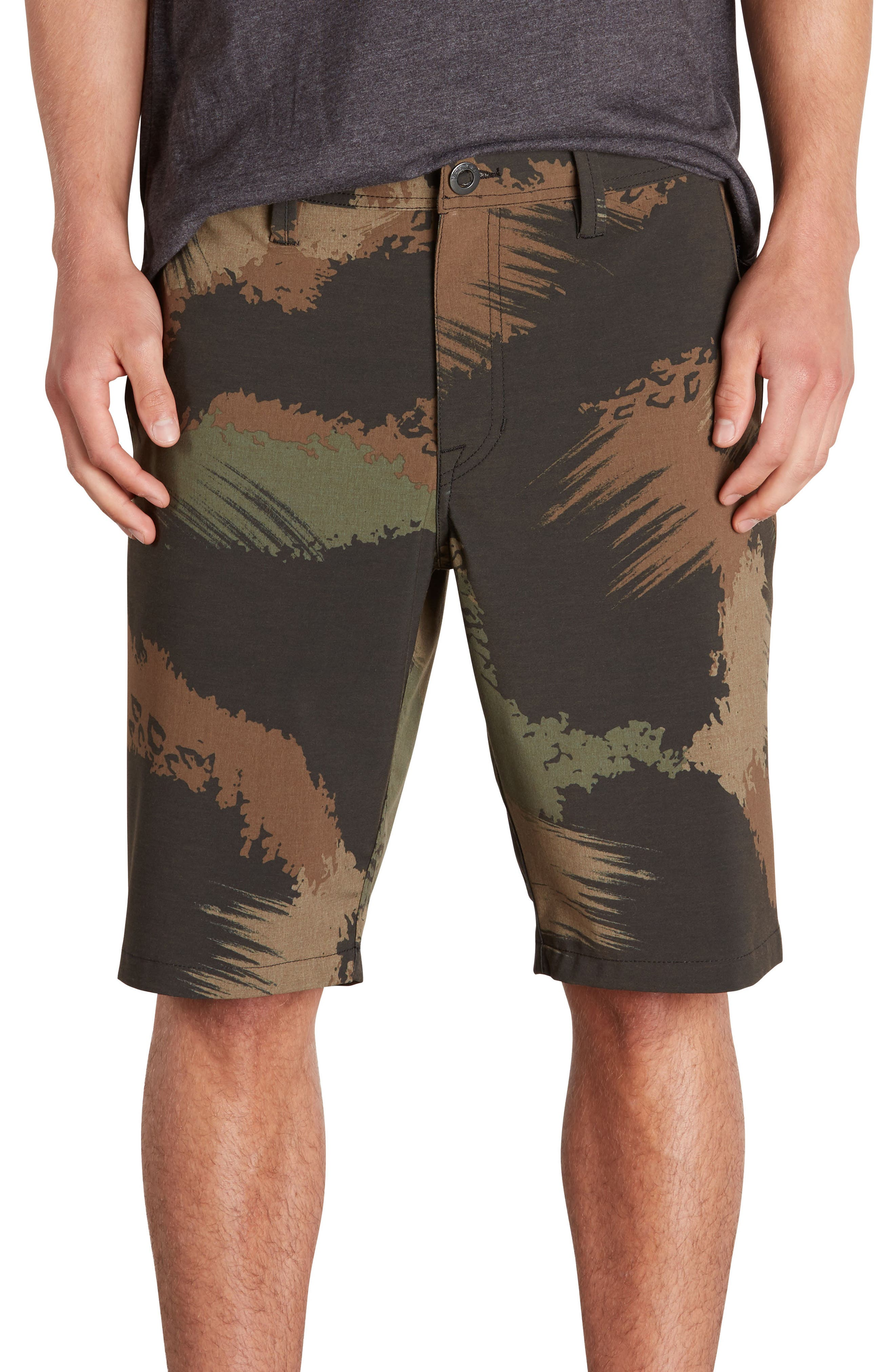 Surf N' Turf Mix Hybrid Shorts,                         Main,                         color, Camouflage