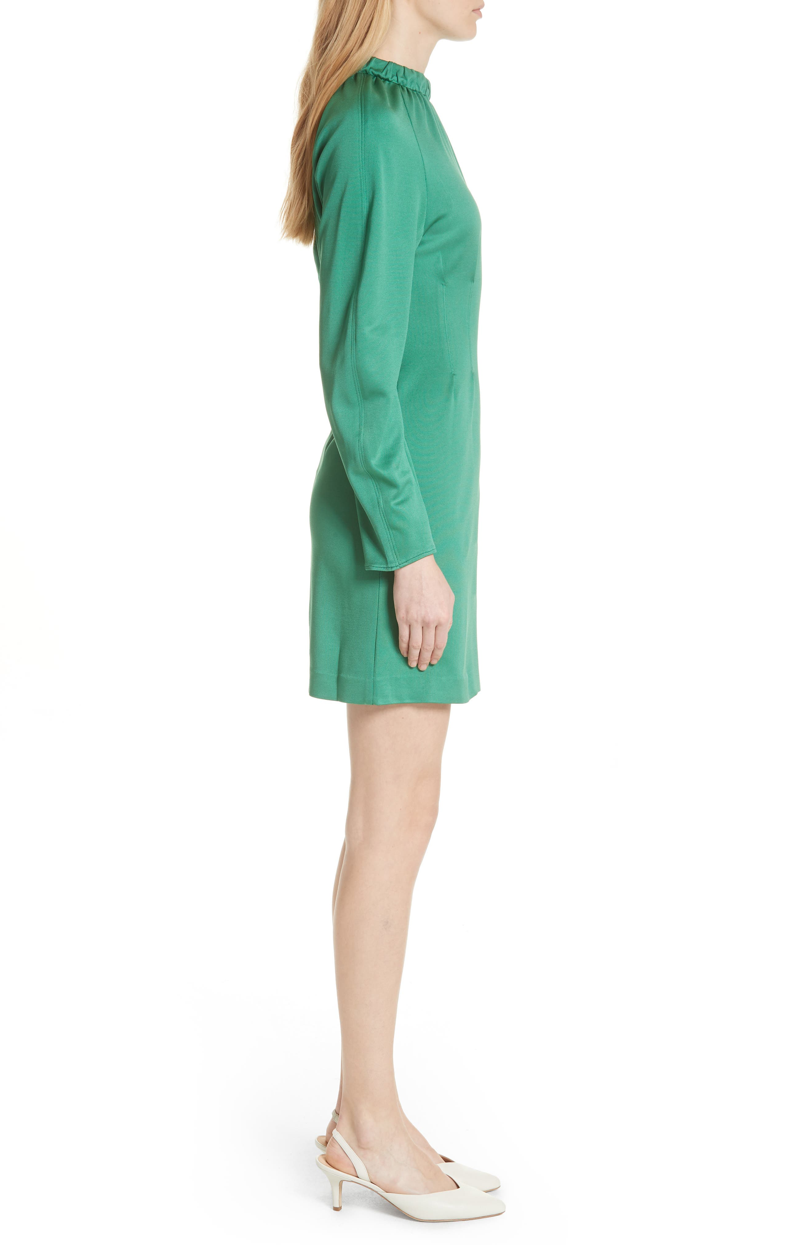 Astor Knit Sheath Dress,                             Alternate thumbnail 3, color,                             Green