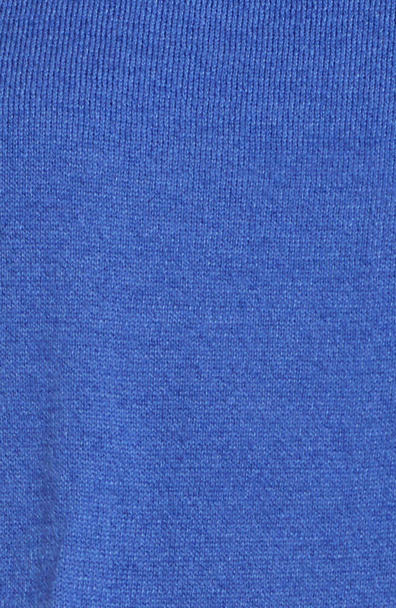 Pima Cotton Blend Tie Sweater,                             Alternate thumbnail 6, color,                             Blue Marine