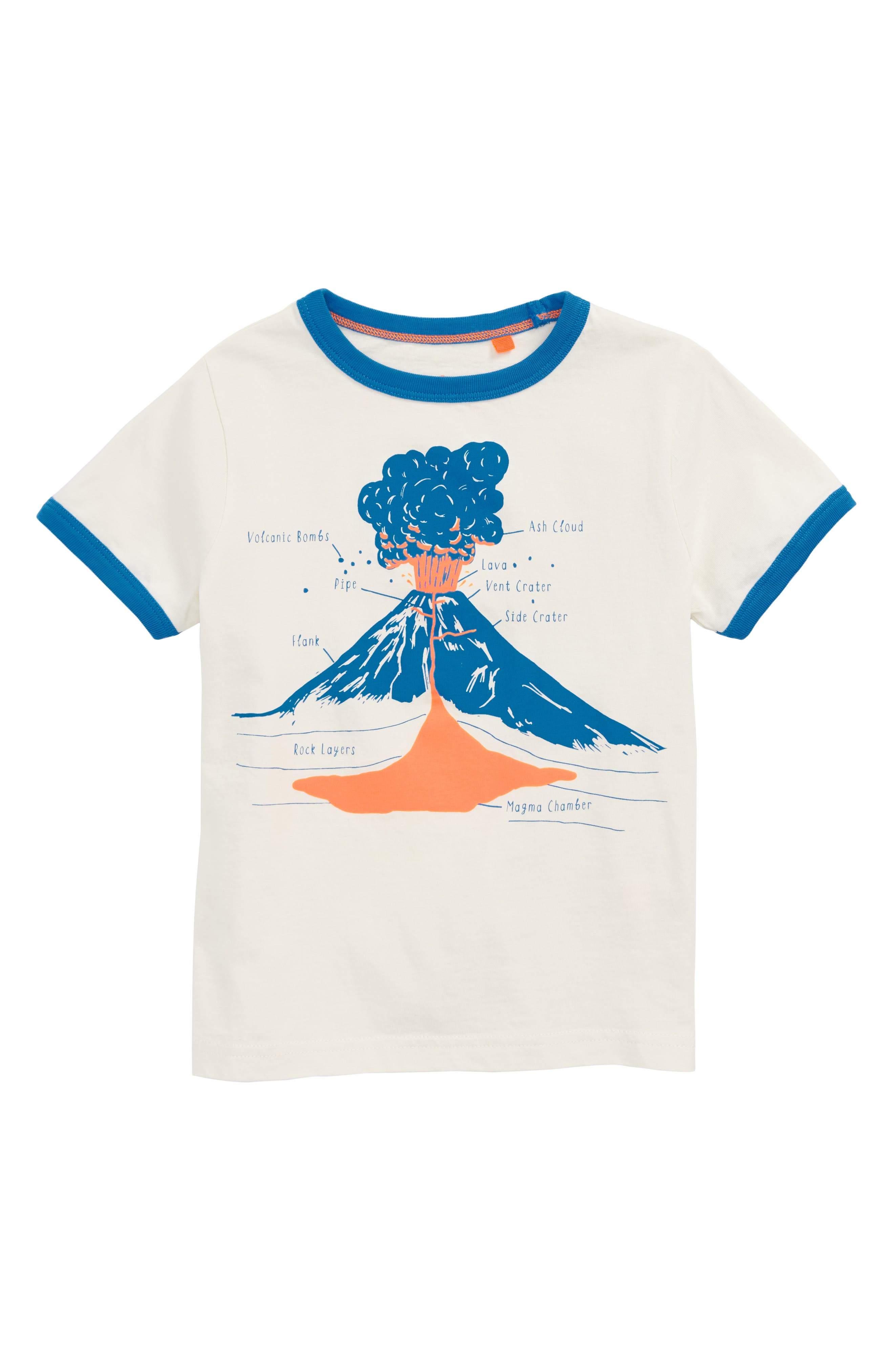 Educational Volcano T-Shirt,                             Main thumbnail 1, color,                             Ecru Volcano