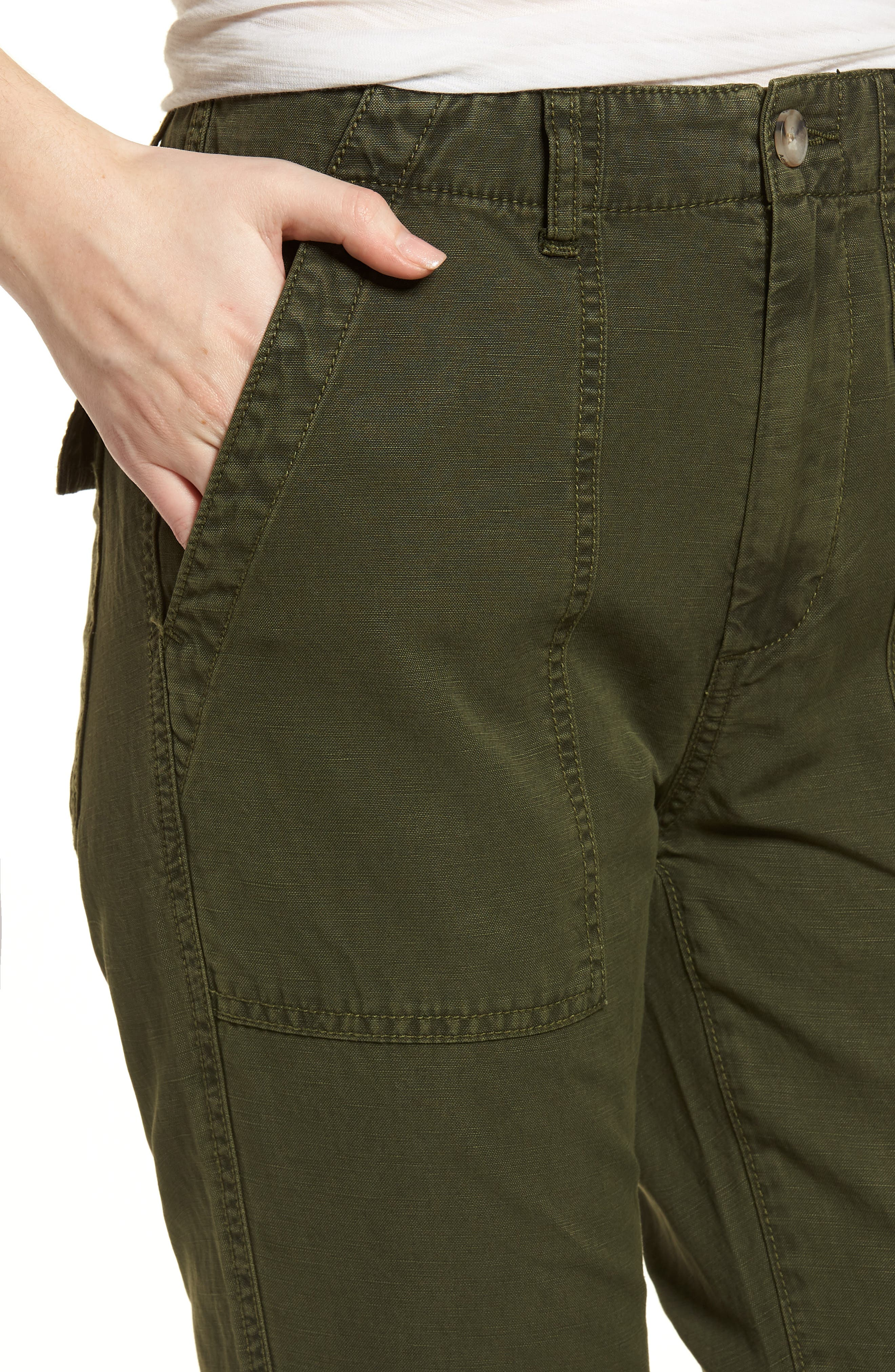 The Wes Utilitarian Relaxed Straight Pants,                             Alternate thumbnail 4, color,                             Sulfur Desert Pine