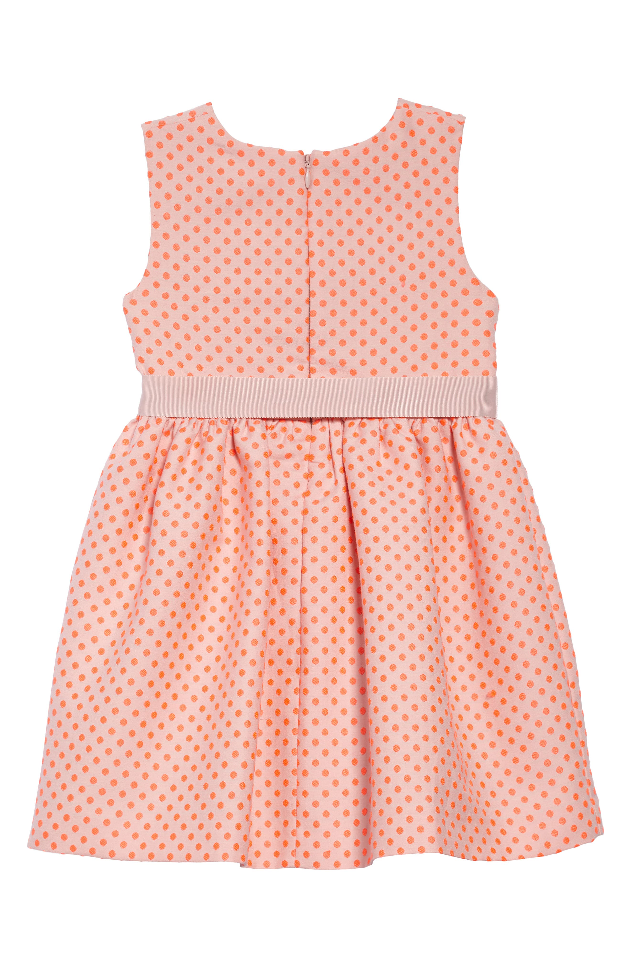 Dot Sleeveless Dress,                             Alternate thumbnail 2, color,                             Pnkbright Flamingo Pink Spot