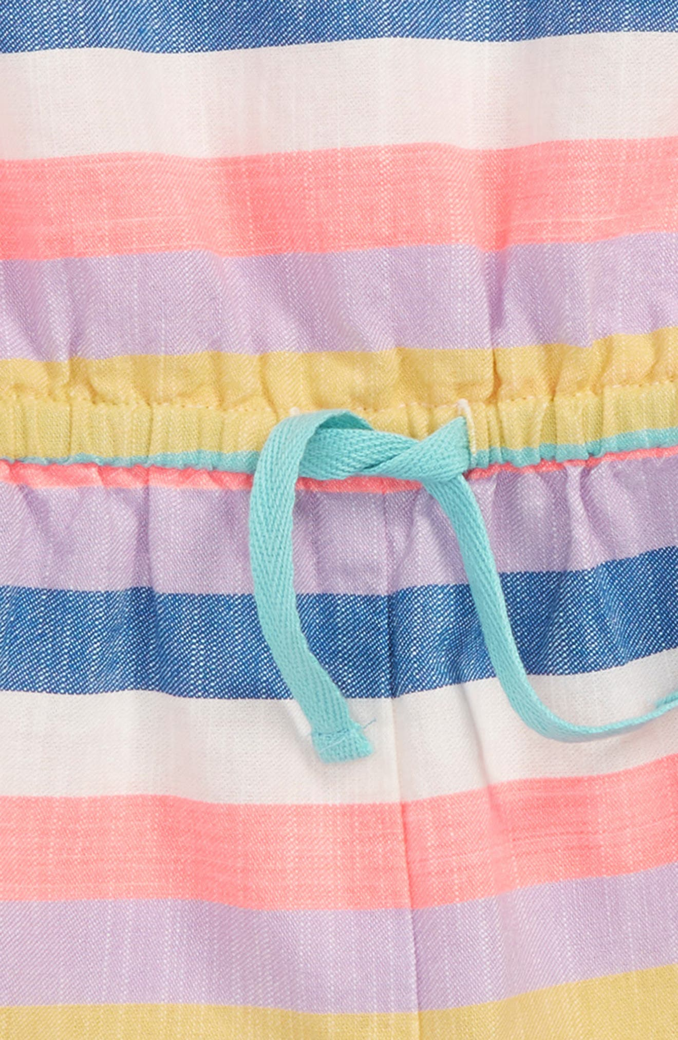 Stripe Romper,                             Alternate thumbnail 2, color,                             Candy Stripe Pnk
