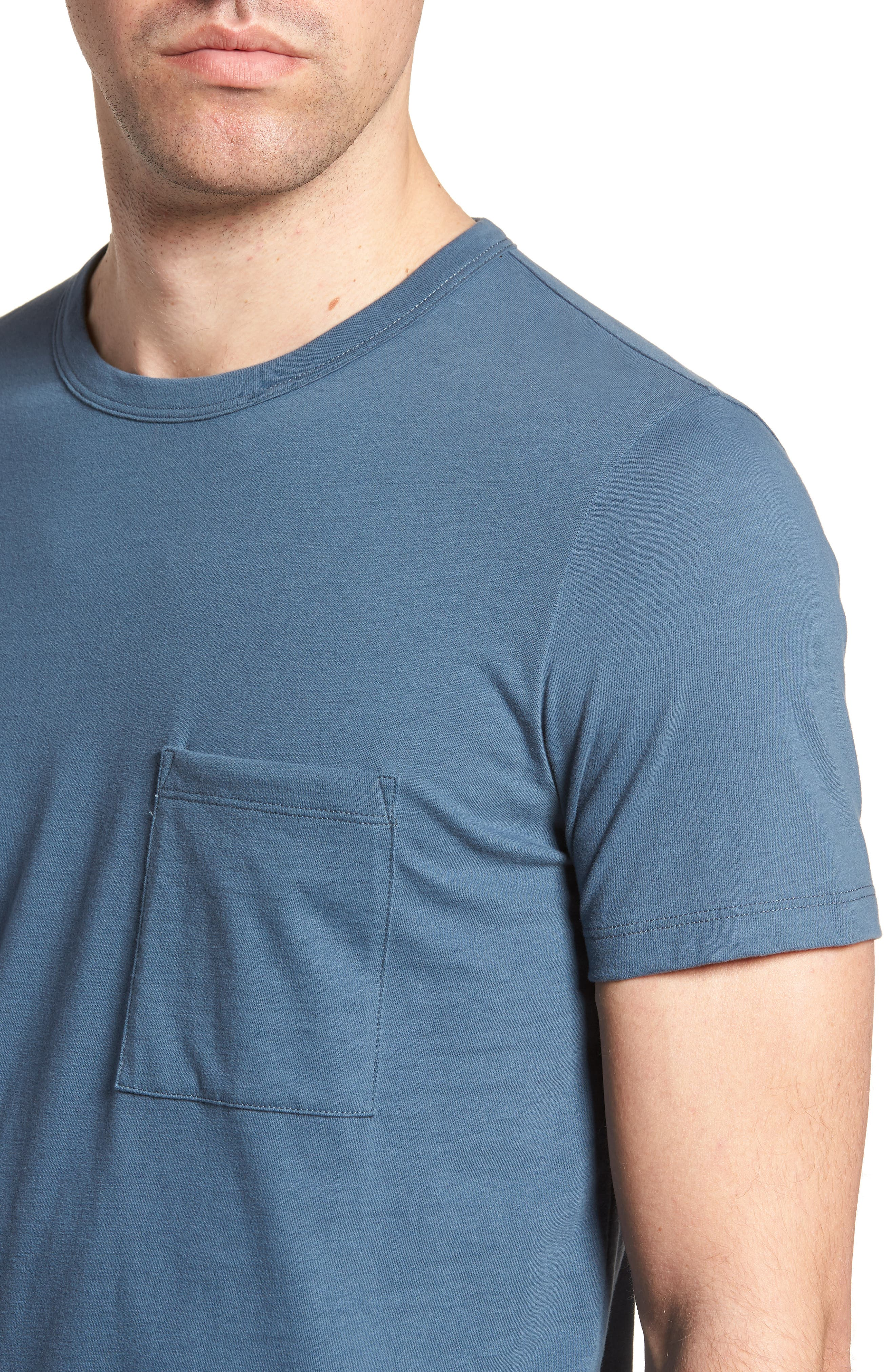 Essential Regular Fit T-Shirt,                             Alternate thumbnail 4, color,                             Hydro