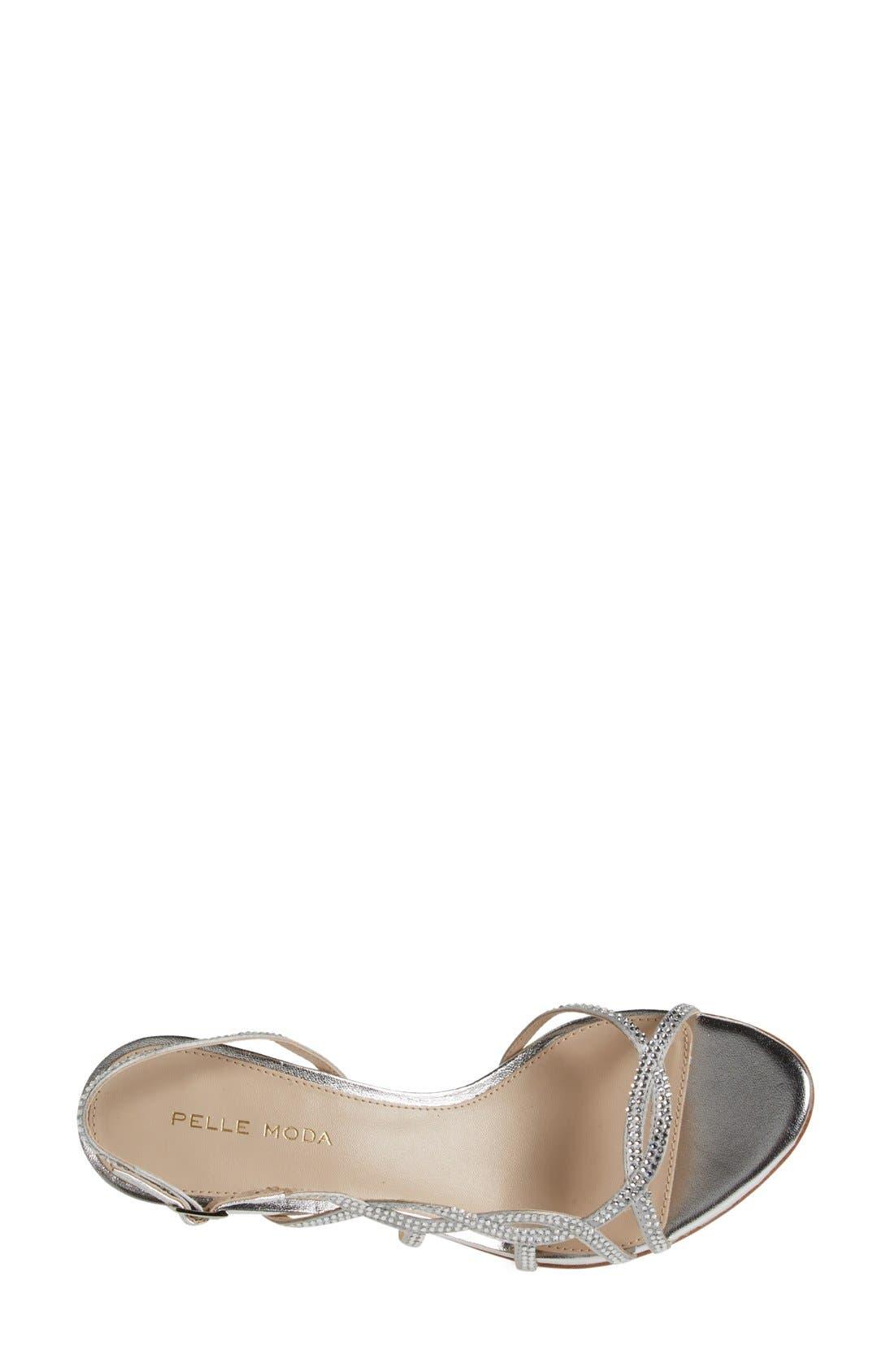 Alternate Image 3  - Pelle Moda 'Amina' Metallic Slingback Sandal (Women)