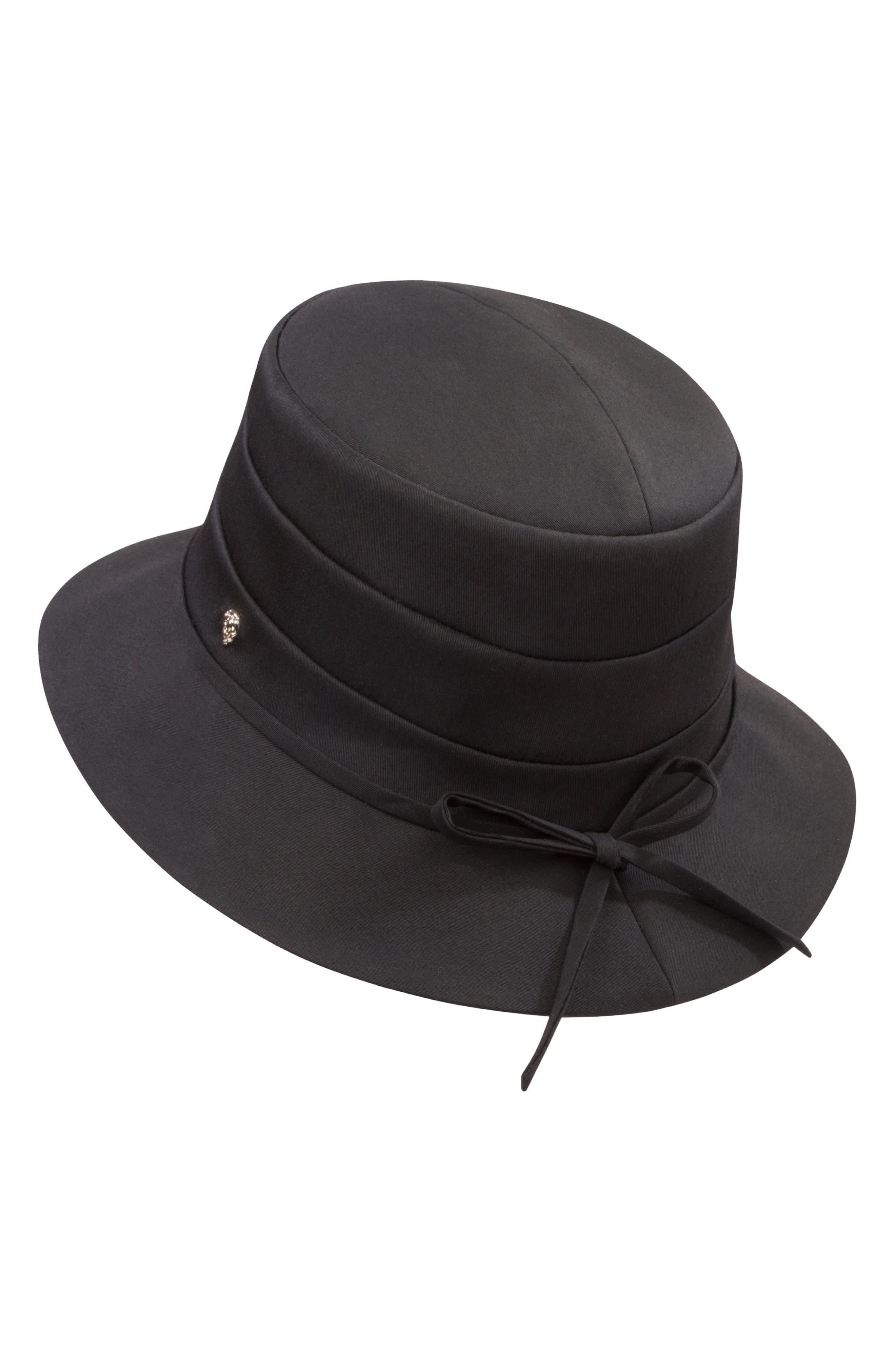 Medium Brim Water-Resistant Hat,                             Alternate thumbnail 2, color,                             Black