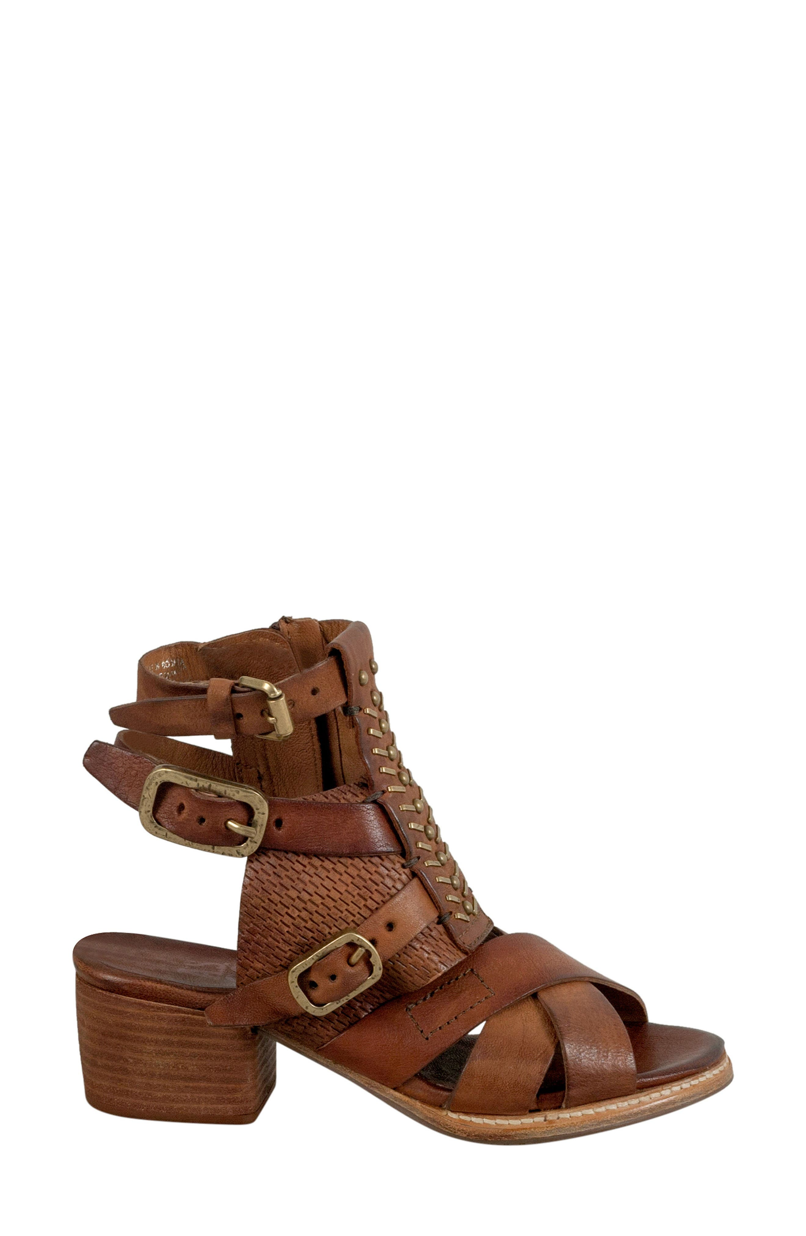 Pennie Gladiator Sandal,                             Alternate thumbnail 3, color,                             Cognac