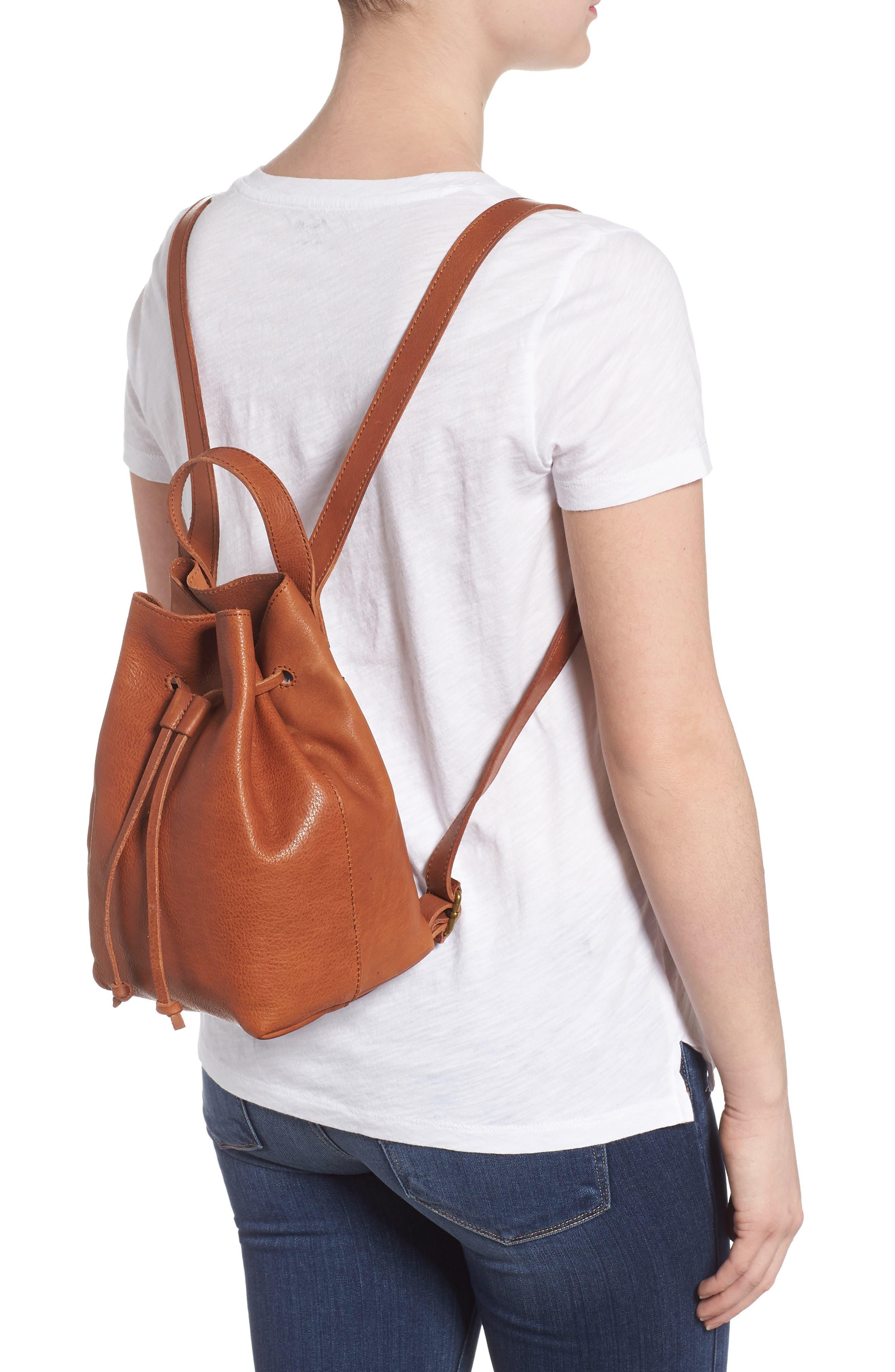 Mini Somerset Leather Backpack,                             Alternate thumbnail 2, color,                             English Saddle
