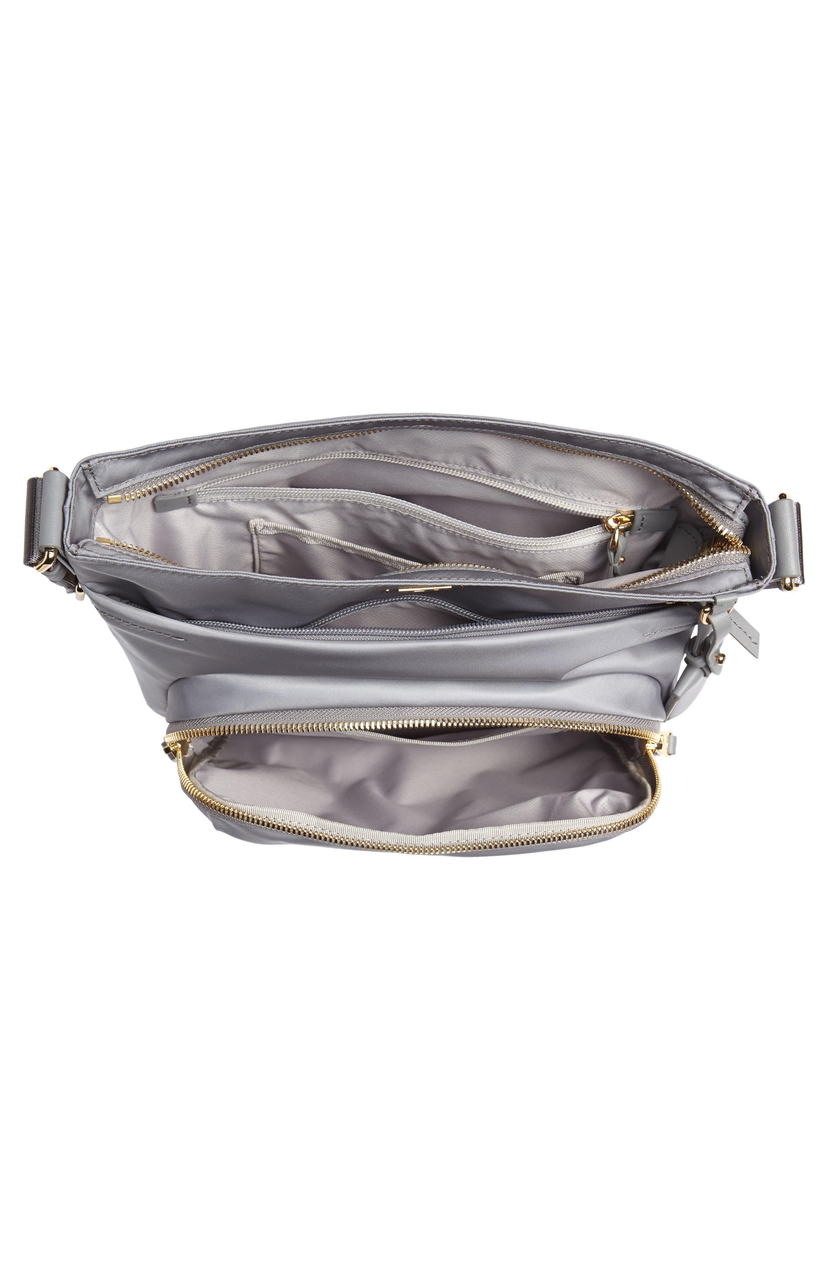 Voyager - Capri Nylon Crossbody Bag,                             Alternate thumbnail 4, color,                             Grey