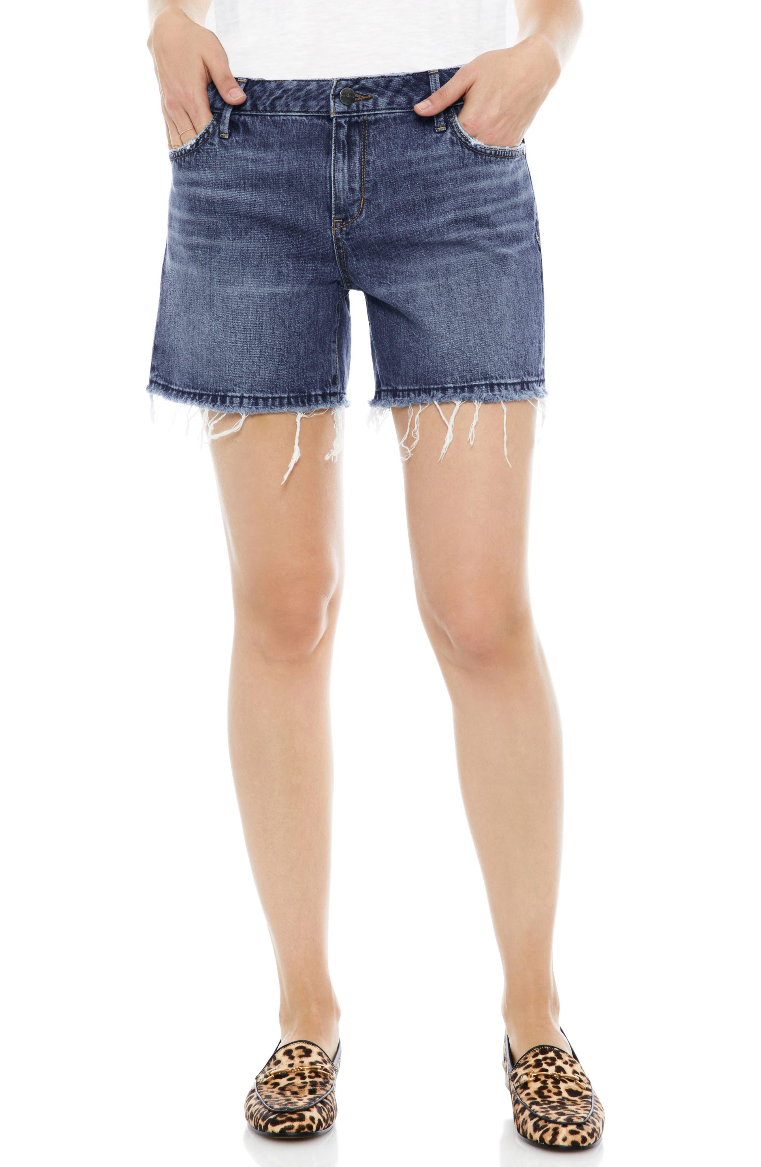 The Derby Cutoff Stretch Denim Shorts,                         Main,                         color, Leighton