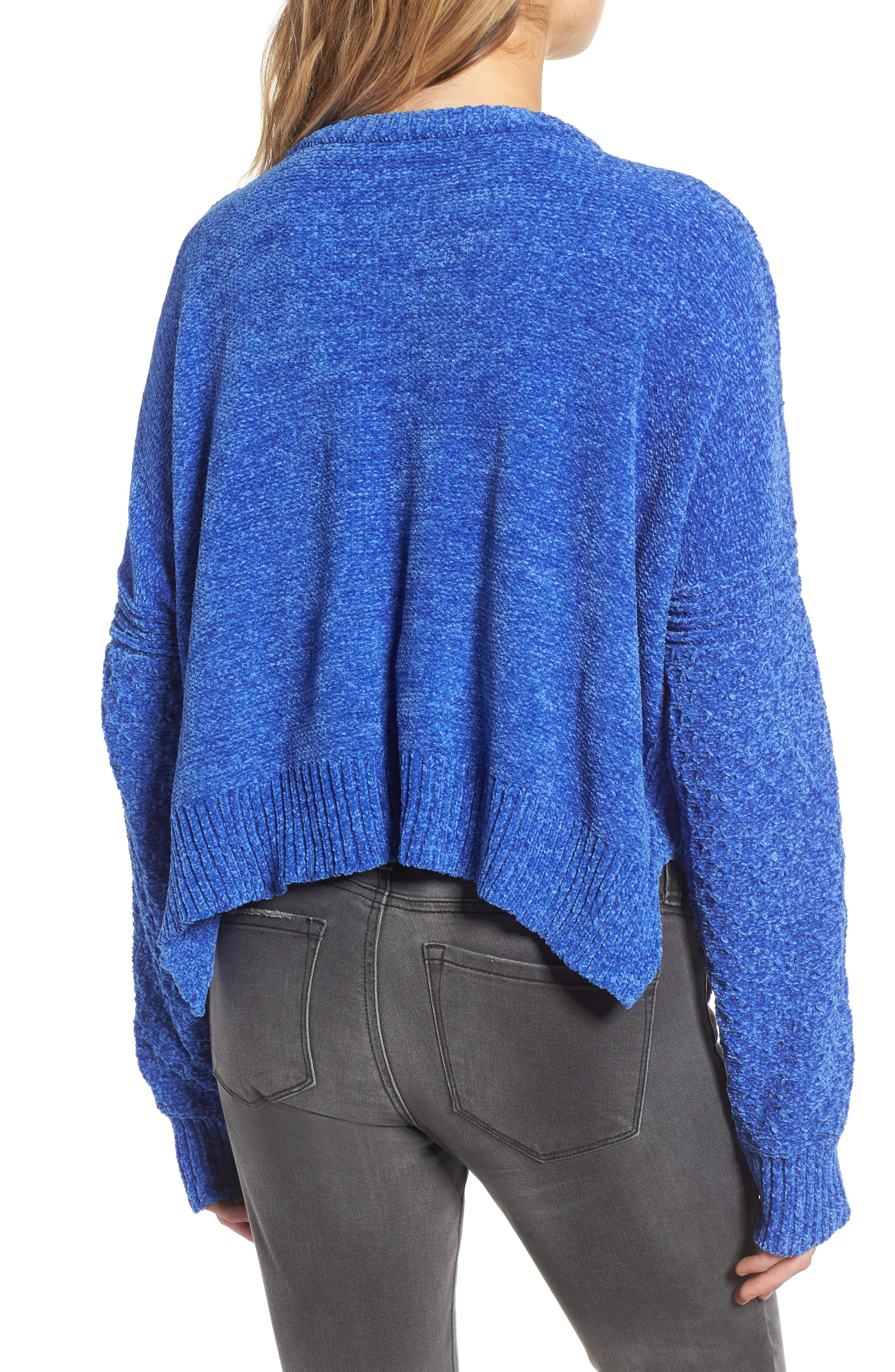 Chenille Sweater,                             Alternate thumbnail 2, color,                             Electric Blue