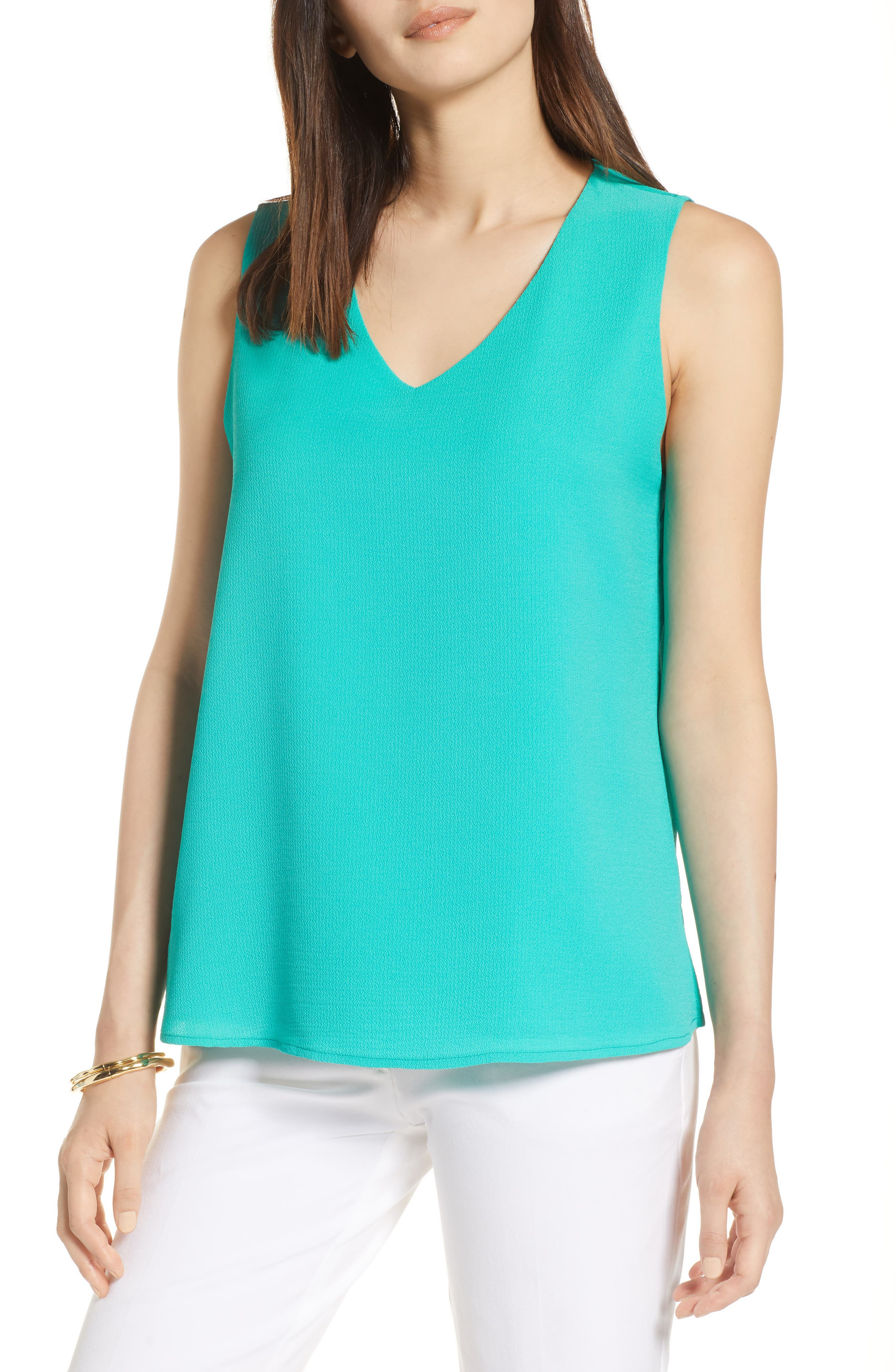 Halogen® V-Neck Shell Regular & Petite)
