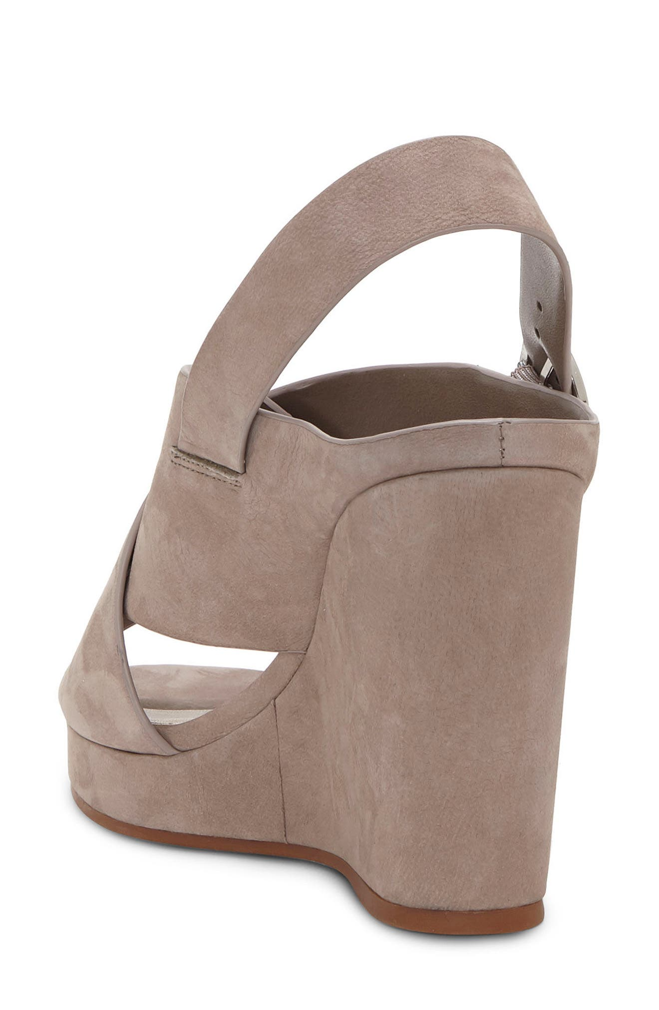 Iteena Wedge Sandal,                             Alternate thumbnail 2, color,                             Hippo Grey Leather