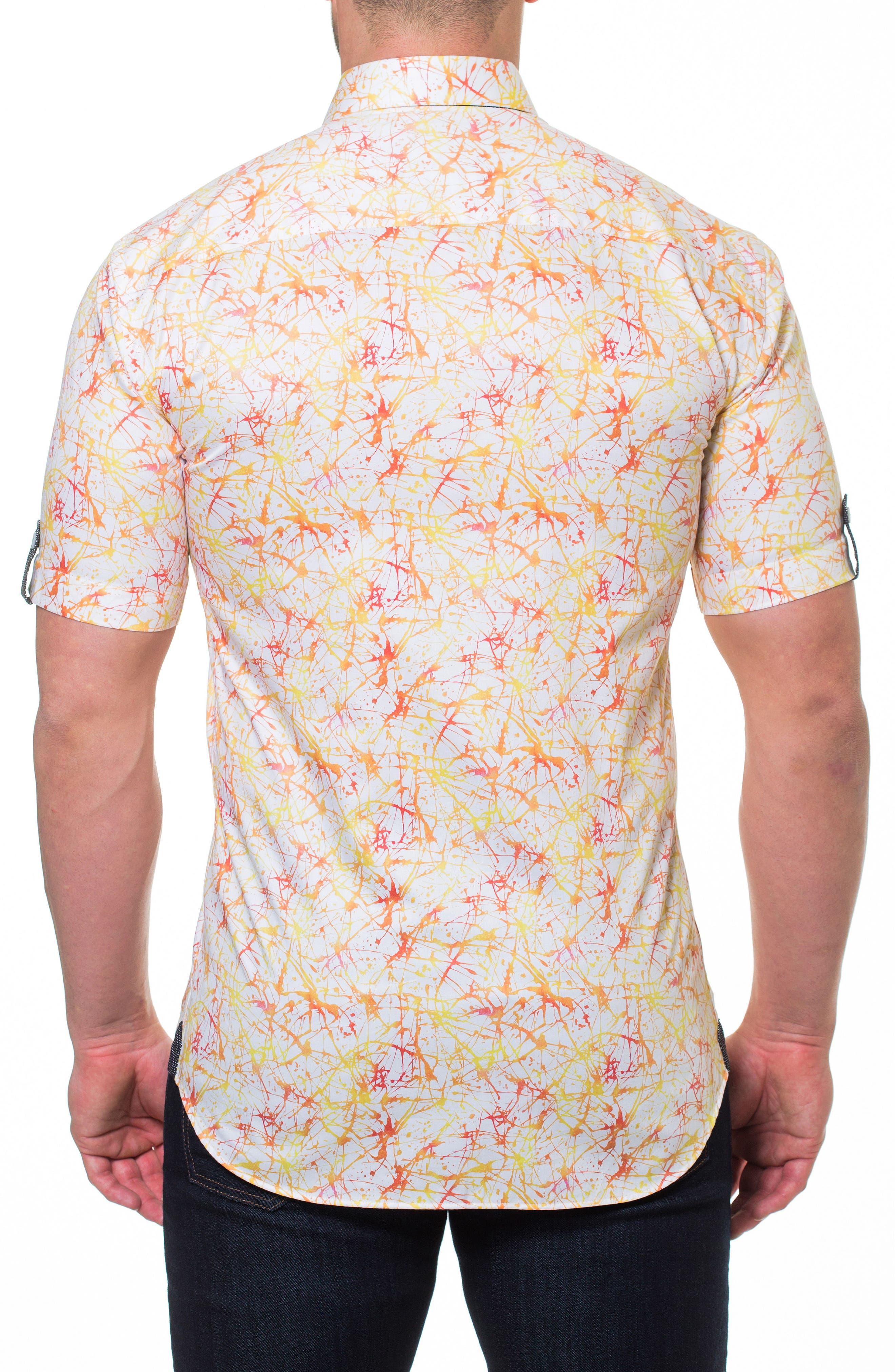 Fresh Synapse Slim Fit Sport Shirt,                             Alternate thumbnail 2, color,                             Yellow
