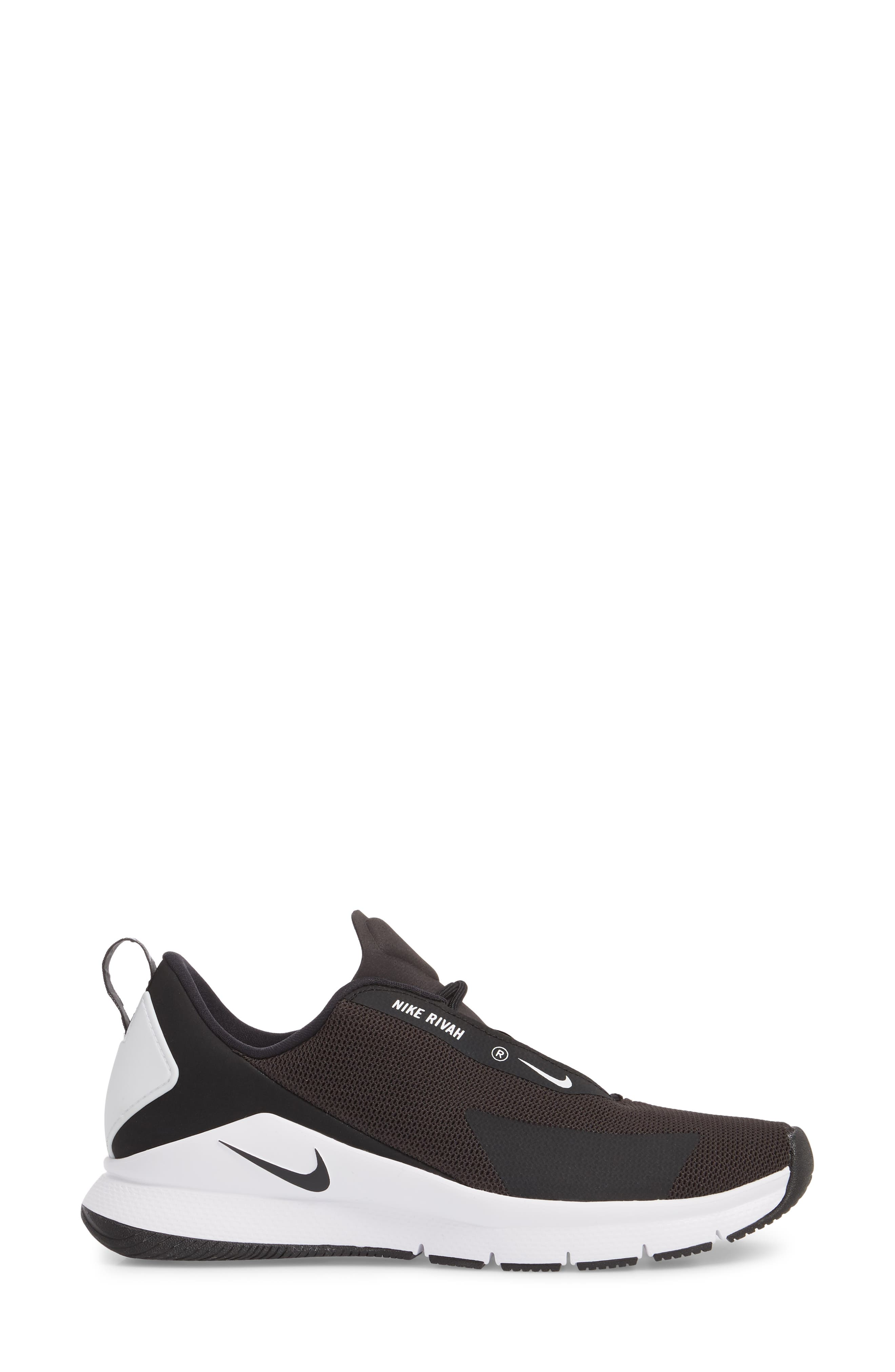 Rivah Sneaker,                             Alternate thumbnail 3, color,                             Black/ Black/ White