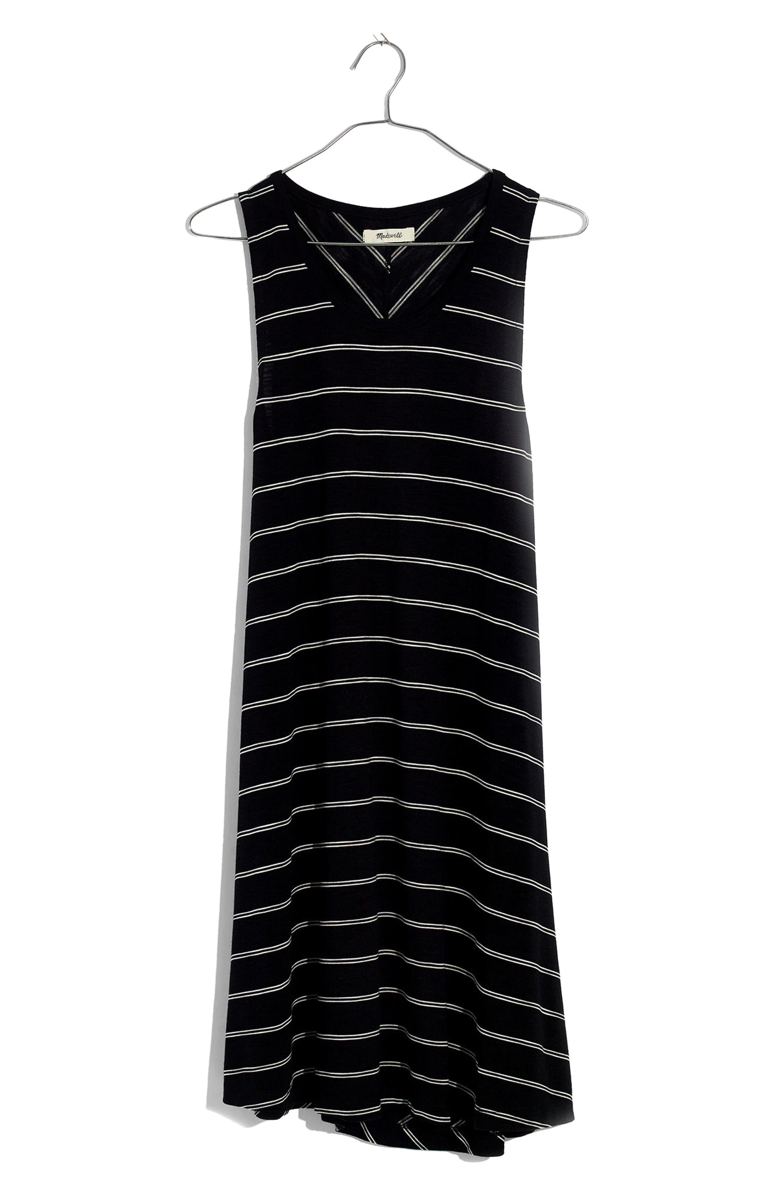 Highpoint Stripe Tank Dress,                             Alternate thumbnail 3, color,                             True Black