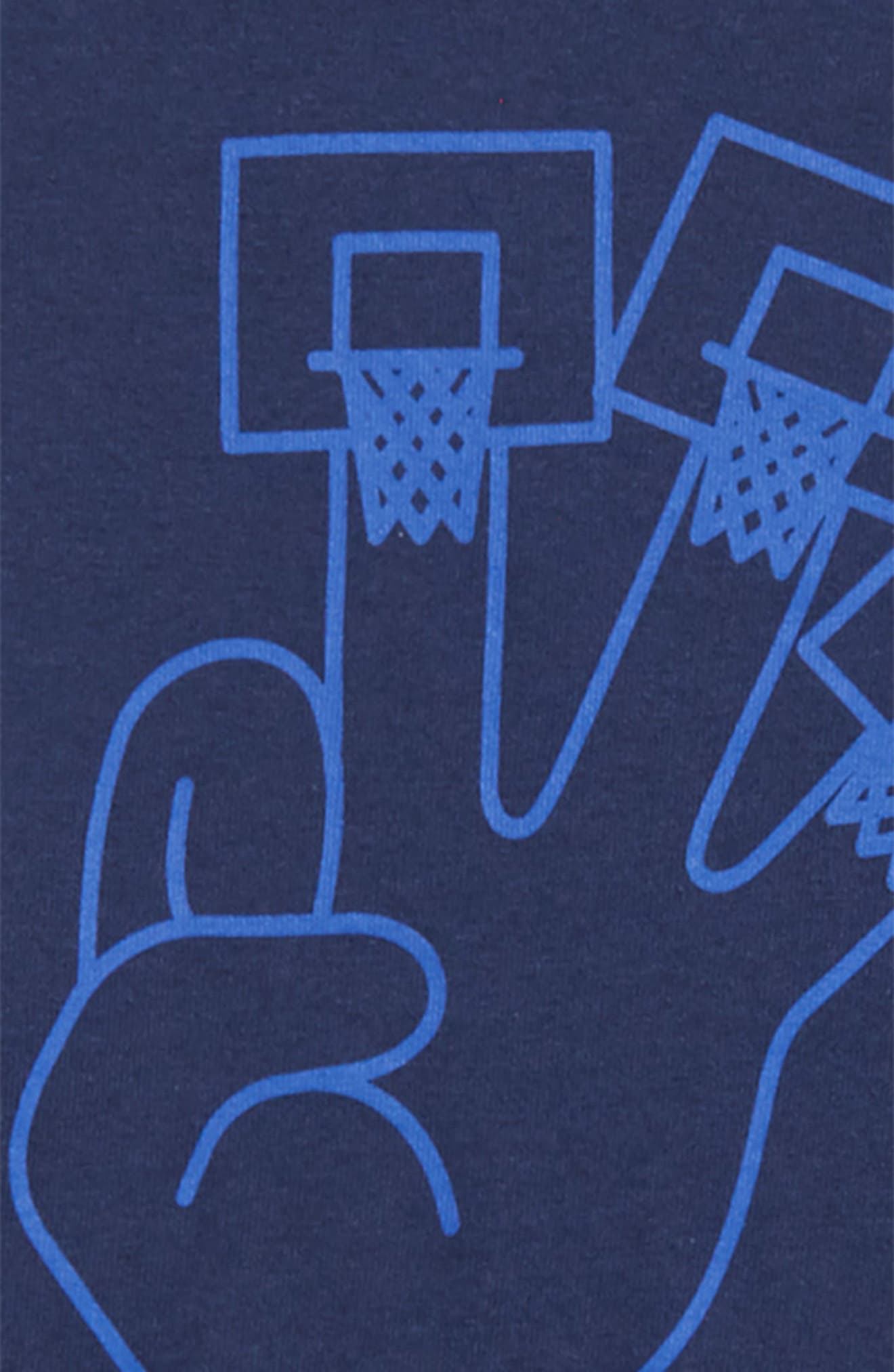 Dry 3Hoops Graphic T-Shirt,                             Alternate thumbnail 2, color,                             Midnight Navy/ Hyper Royal