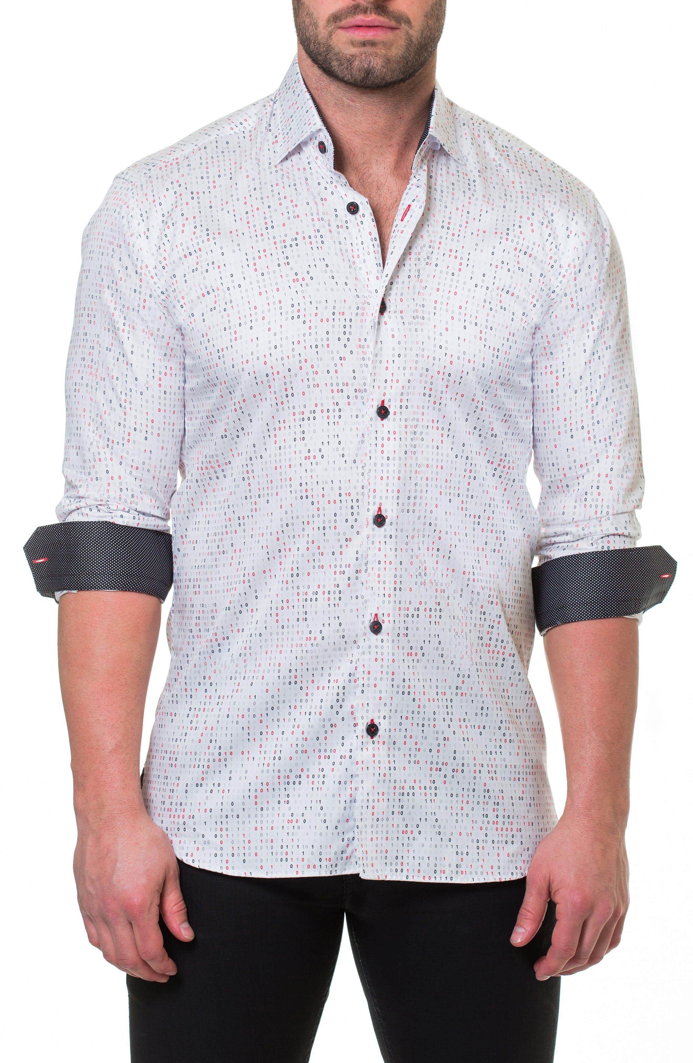 Luxor Binary Slim Fit Sport Shirt,                             Main thumbnail 1, color,                             White