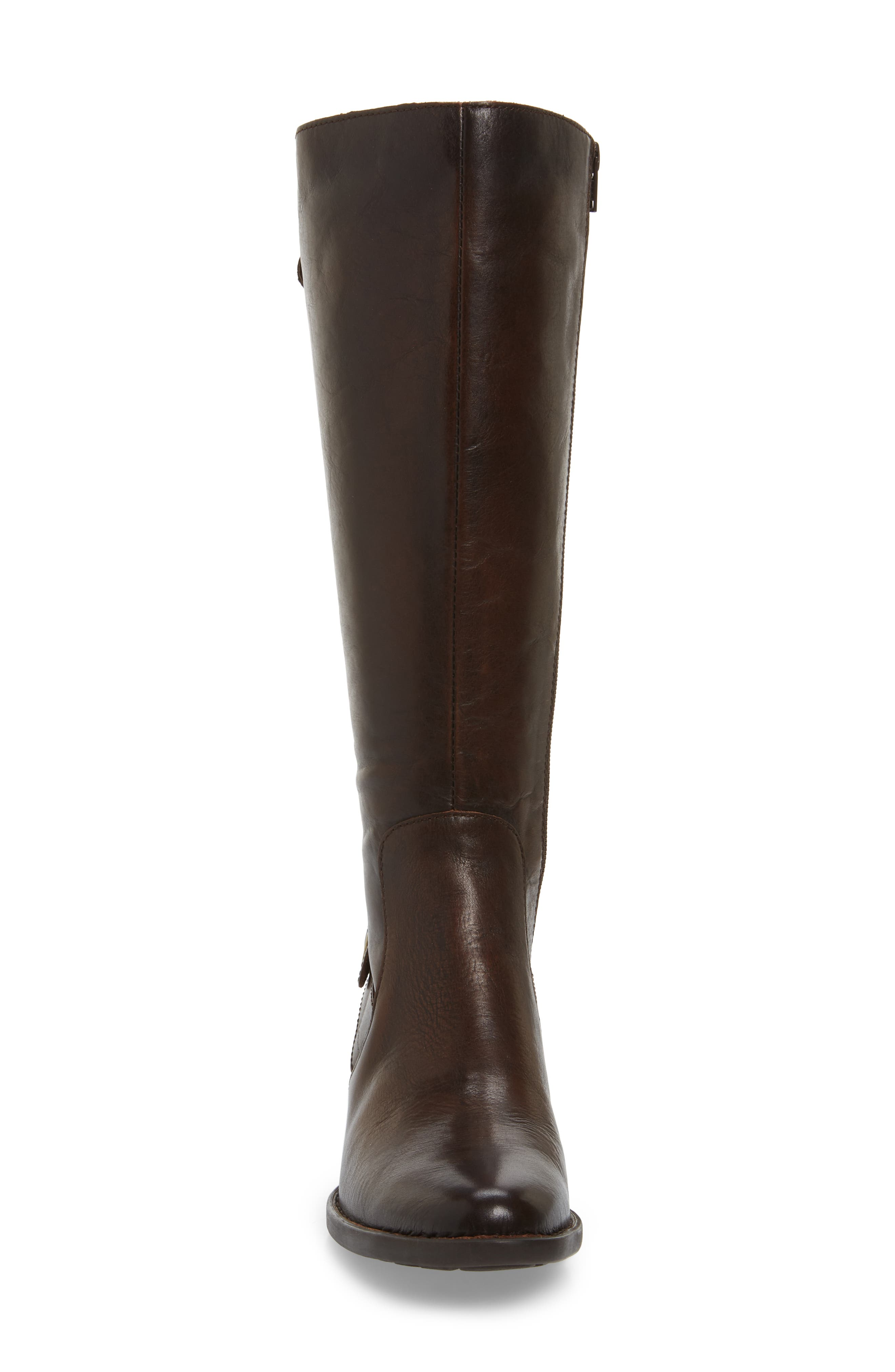 Cupra Tall Boot,                             Alternate thumbnail 4, color,                             Brown Leather