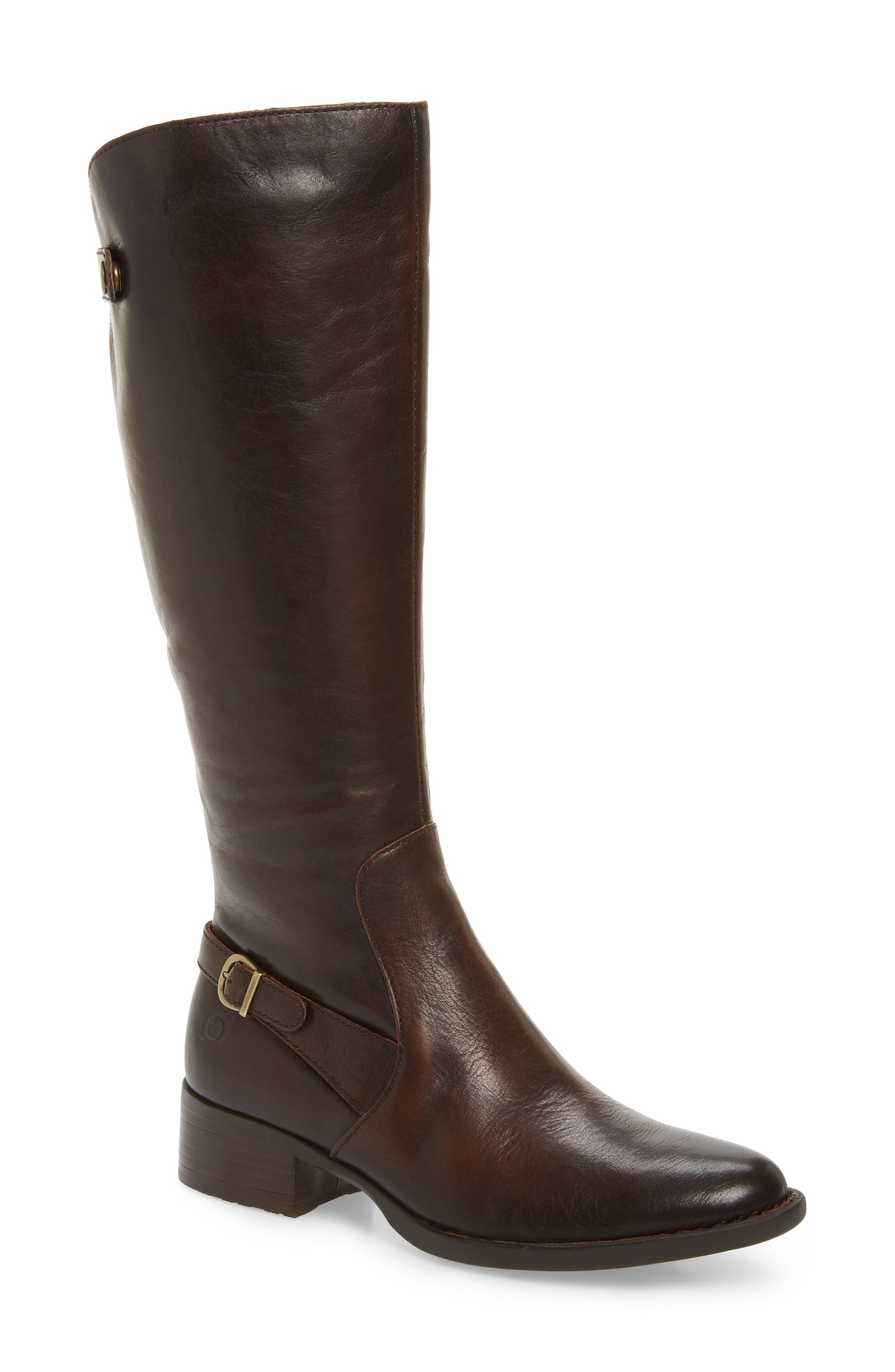 Cupra Tall Boot,                             Main thumbnail 1, color,                             Brown Leather