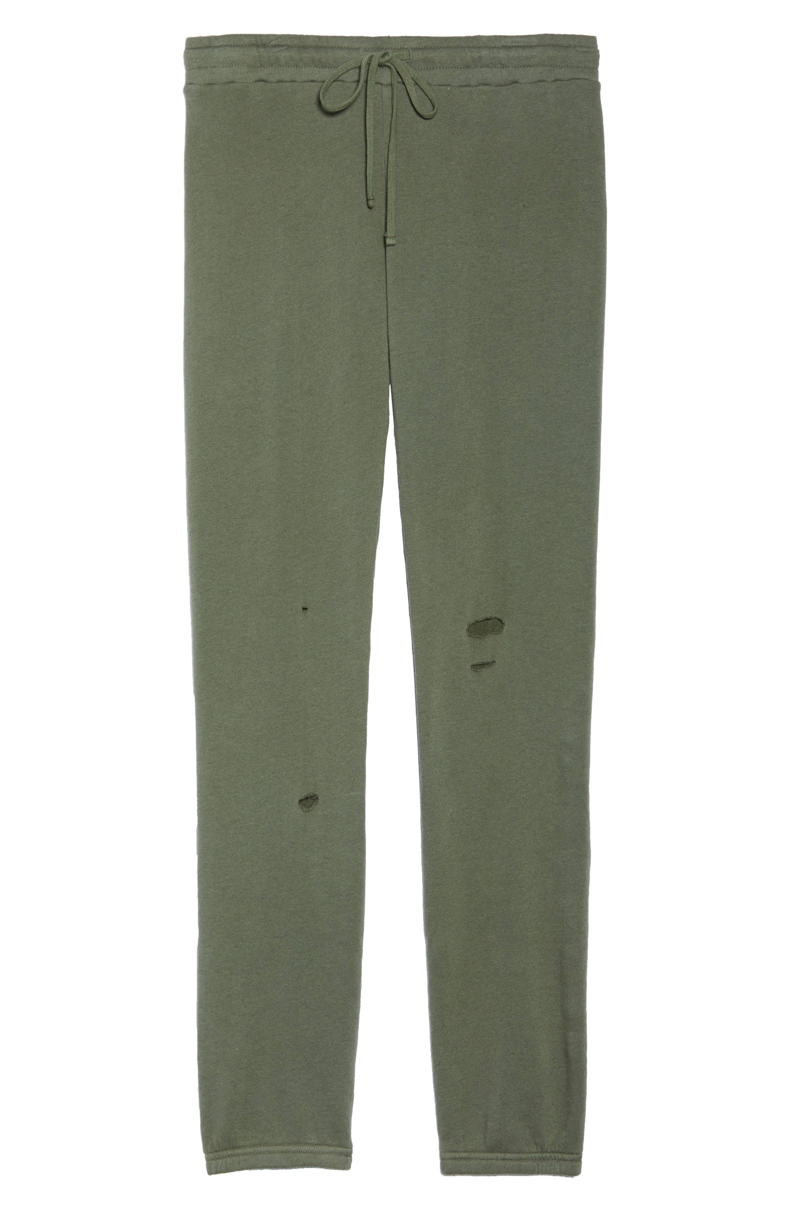 Destroyed Jogger Pants,                             Alternate thumbnail 6, color,                             Palm
