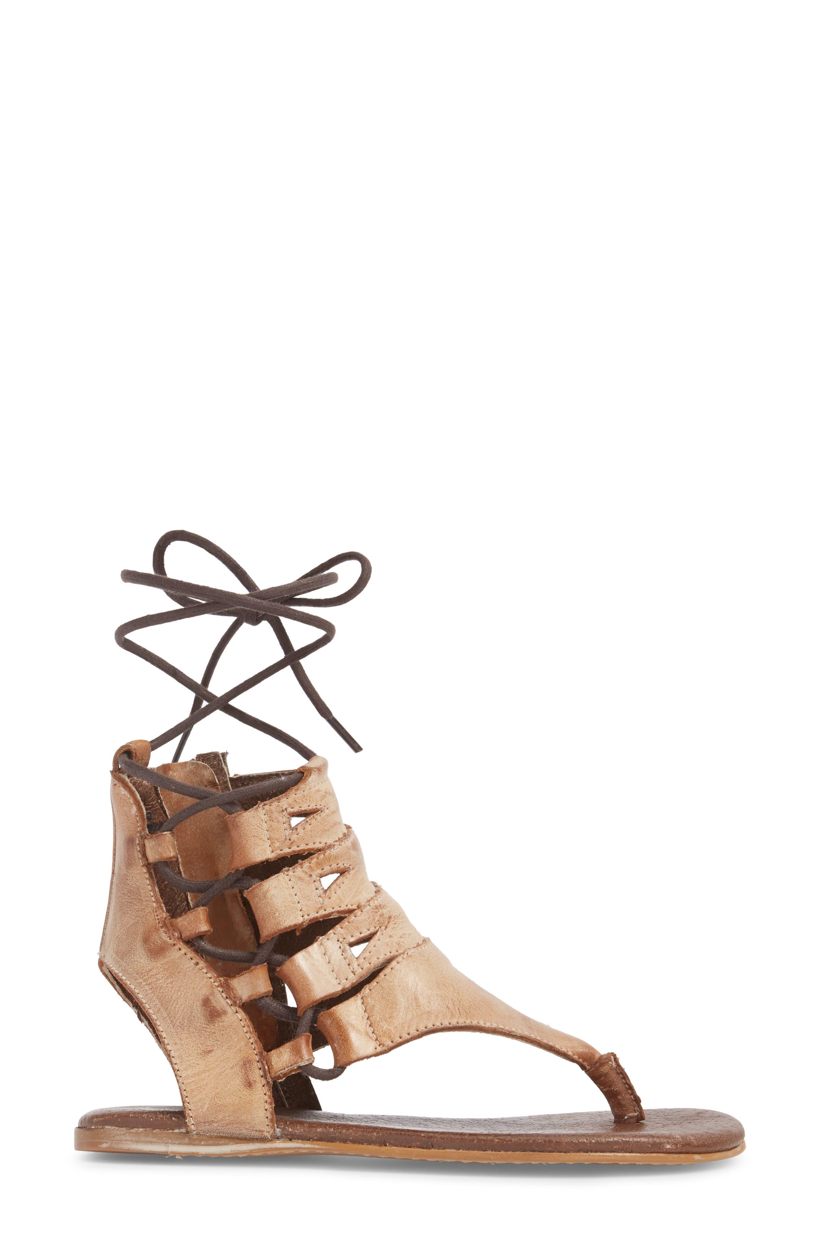 Rosalinda Tall Sandal,                             Alternate thumbnail 3, color,                             Cognac