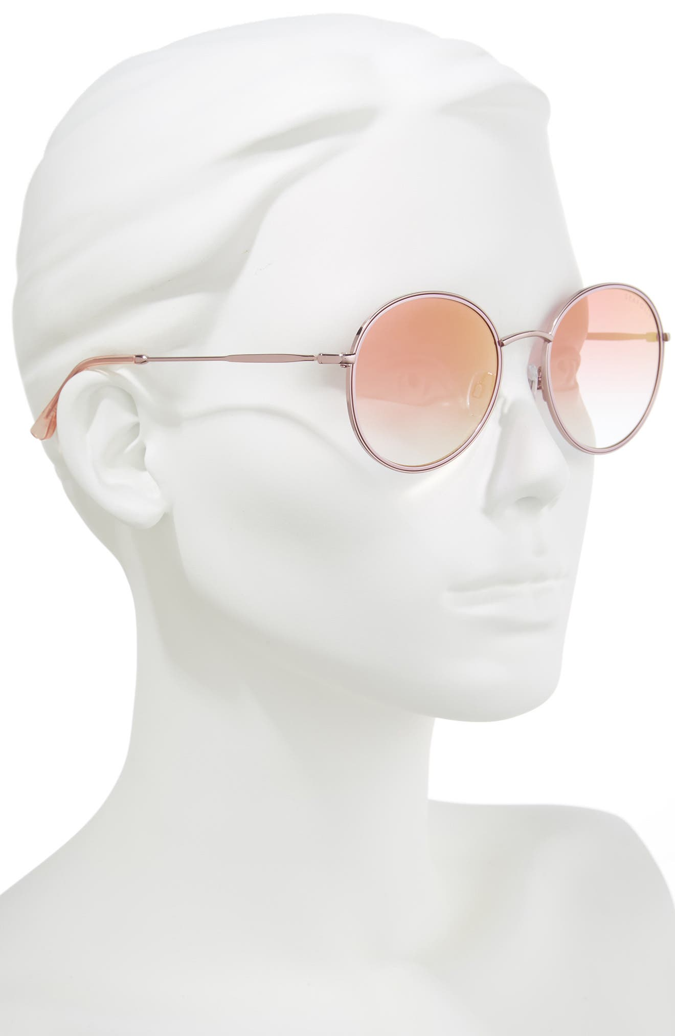 Coogee 54mm Round Sunglasses,                             Alternate thumbnail 2, color,                             Rose