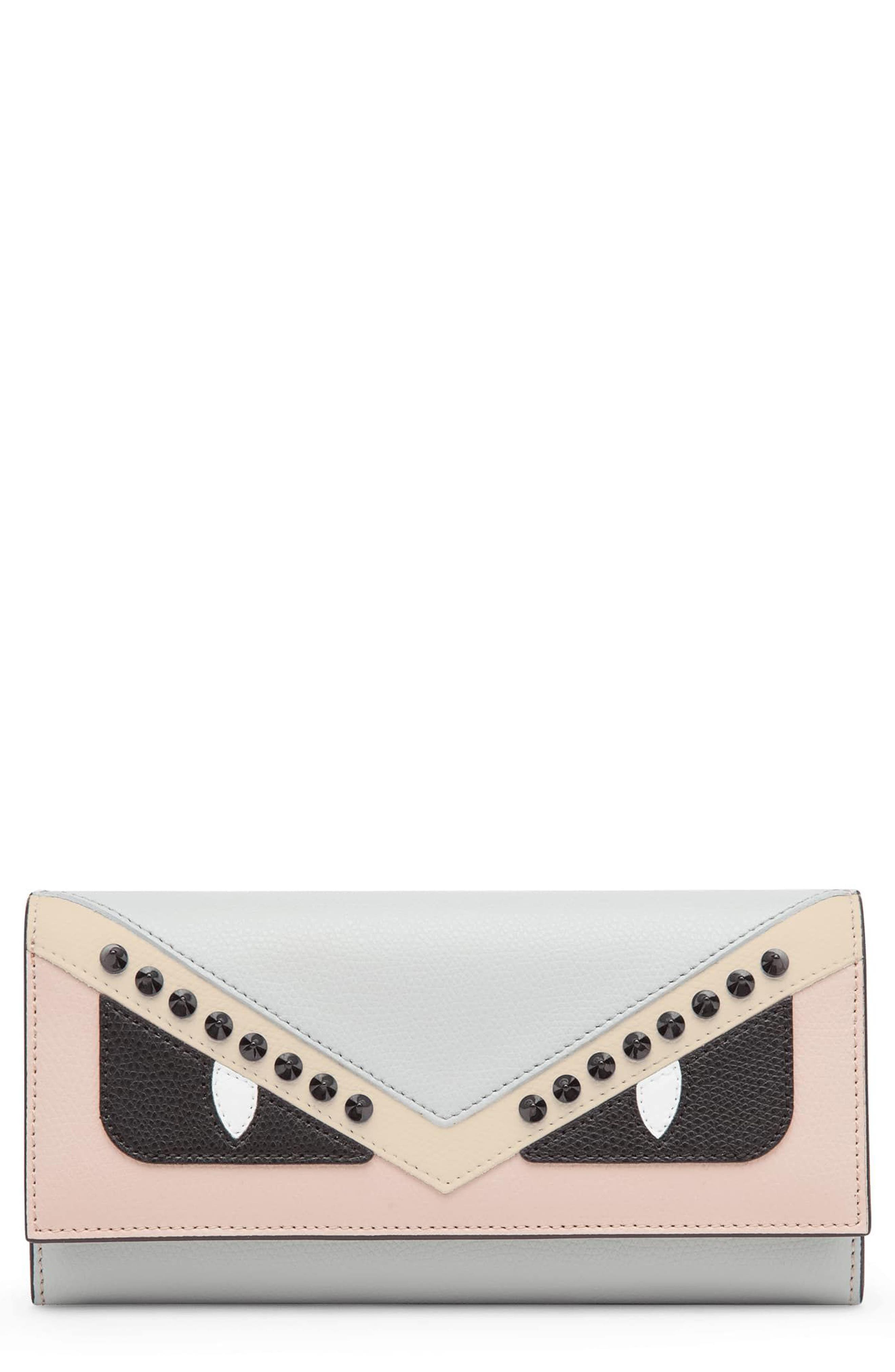 Fendi Monster Leather Continental Wallet