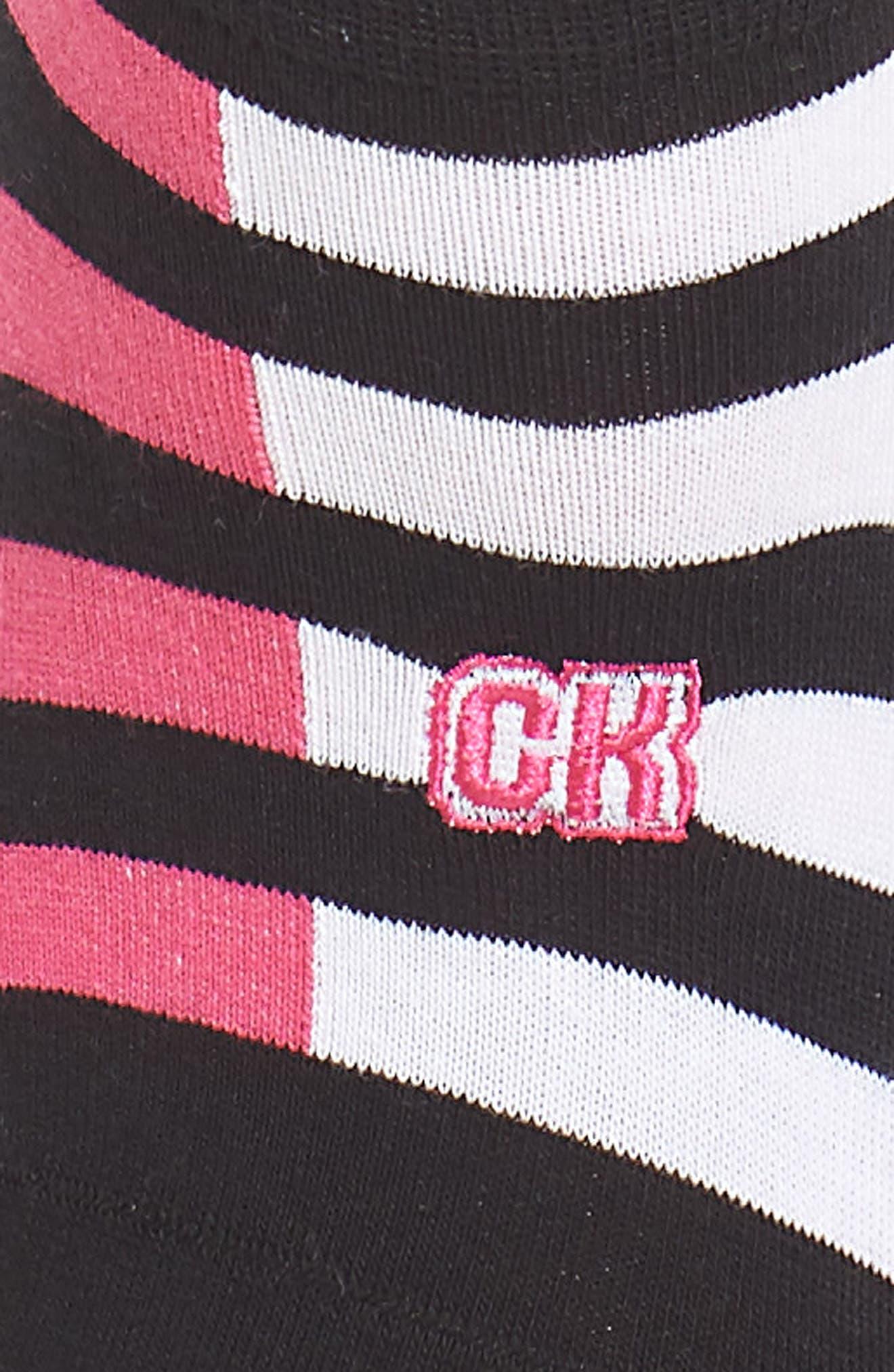Alternate Image 2  - Calvin Klein Varsity Stripe Liner Socks