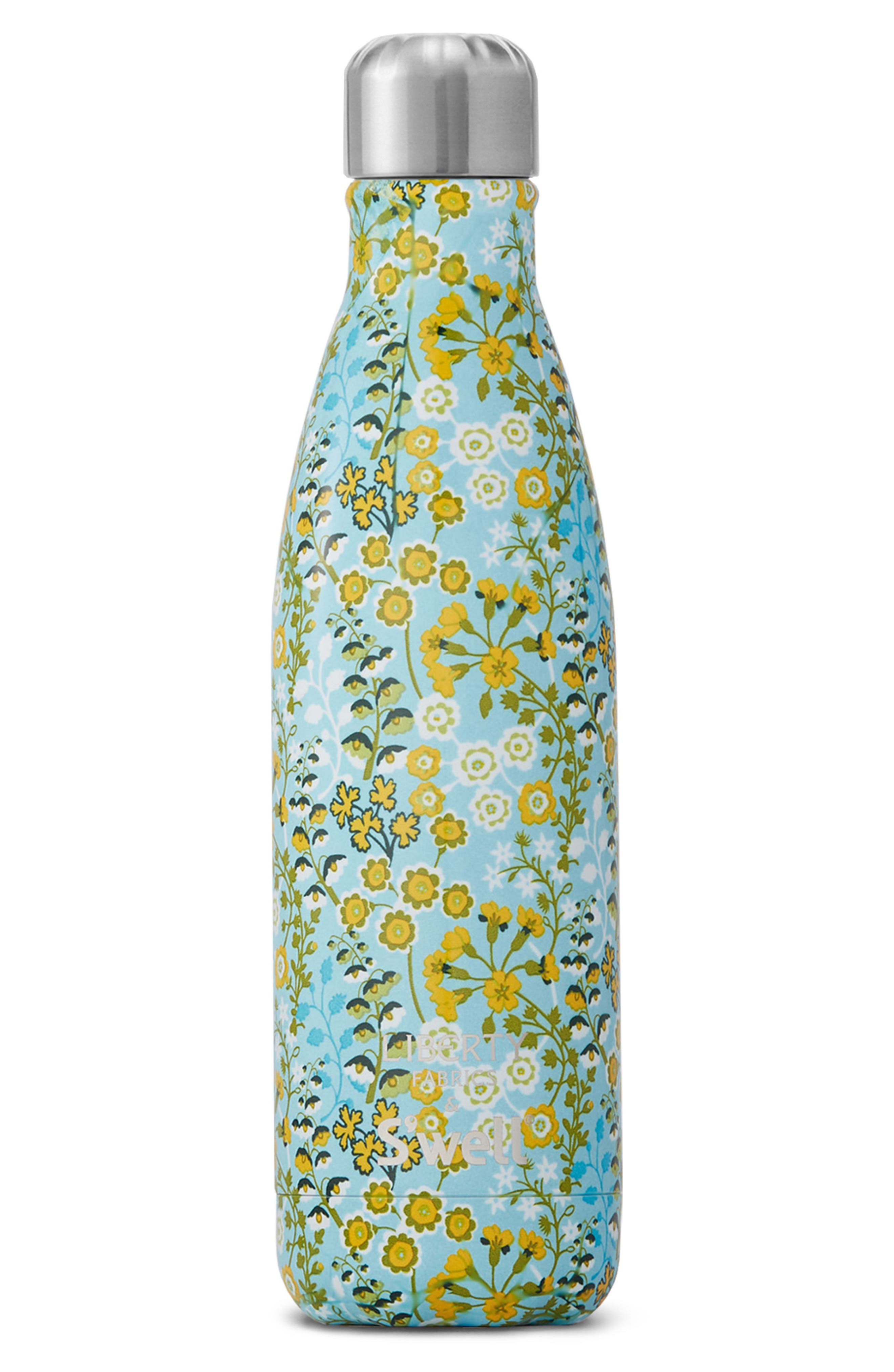 Liberty Fabrics Primula Blossom Stainless Steel Water Bottle,                         Main,                         color, Primula Blossom