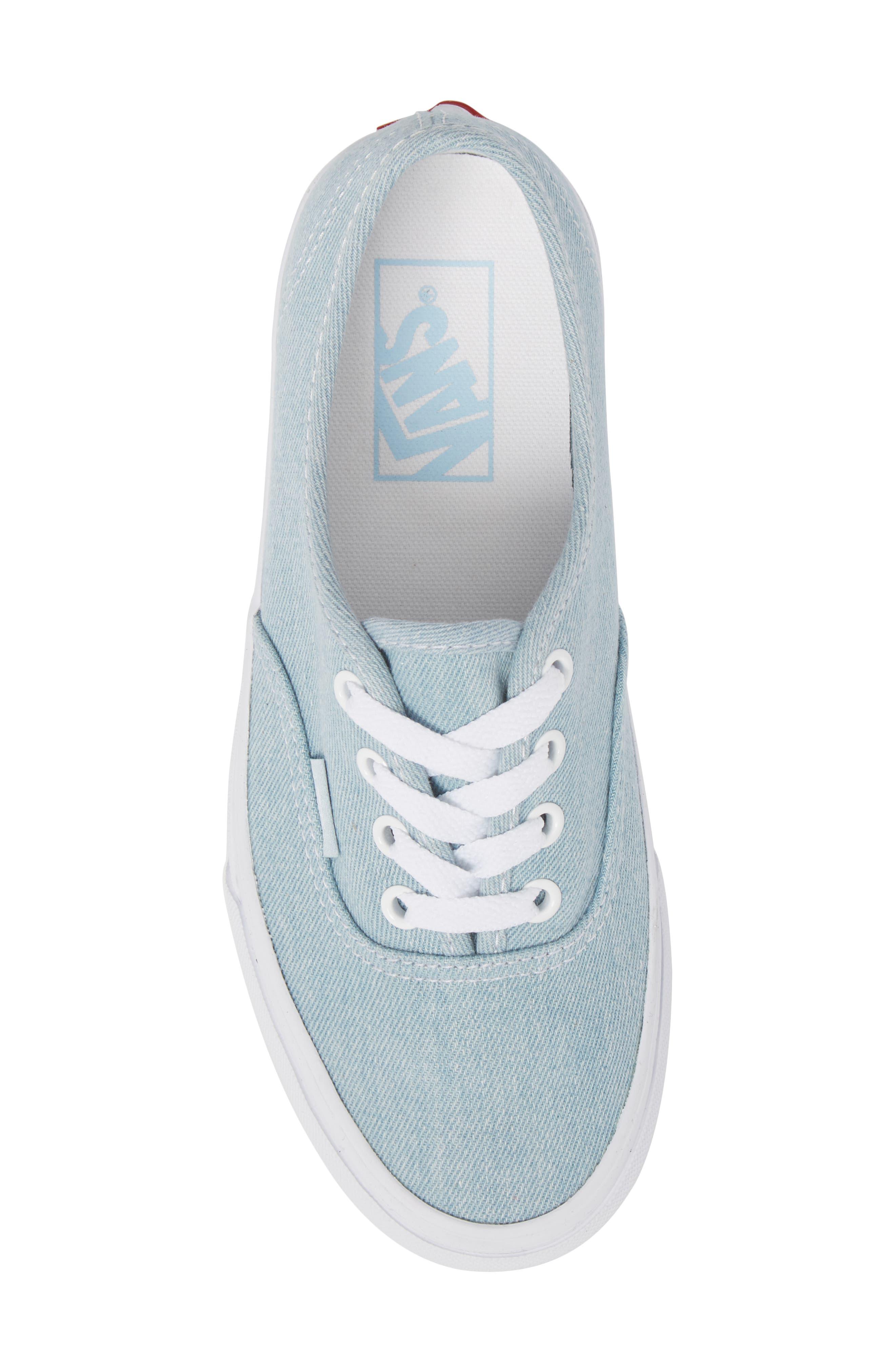 'Authentic' Sneaker,                             Alternate thumbnail 6, color,                             Denim Baby Blue