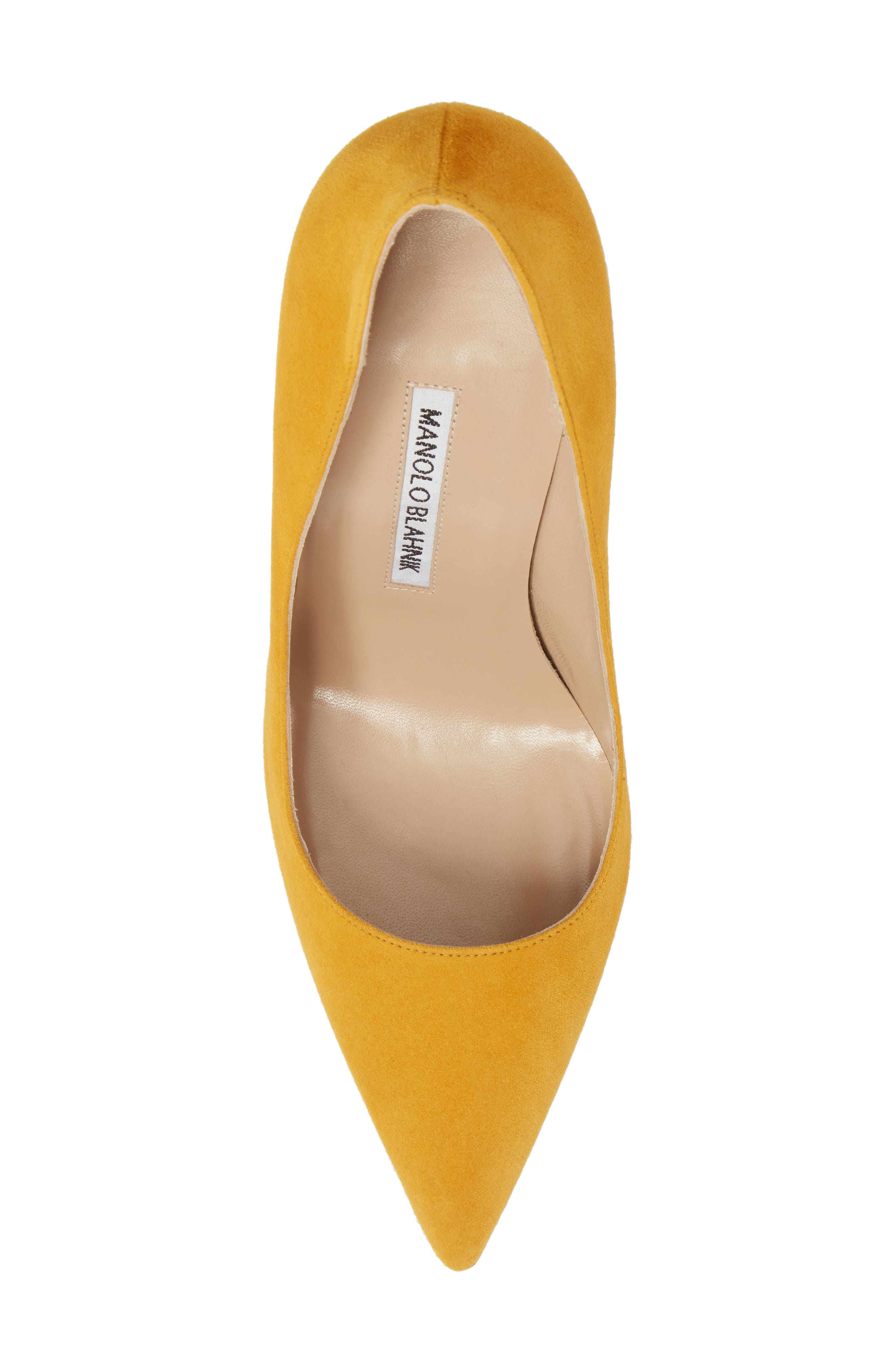 'BB' Pointy Toe Pump,                             Alternate thumbnail 5, color,                             Arbor Yellow