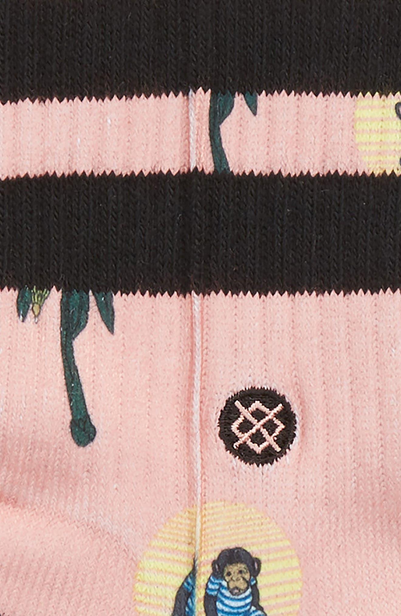 Sunset Surfin' Monkey Socks,                             Alternate thumbnail 2, color,                             Multi