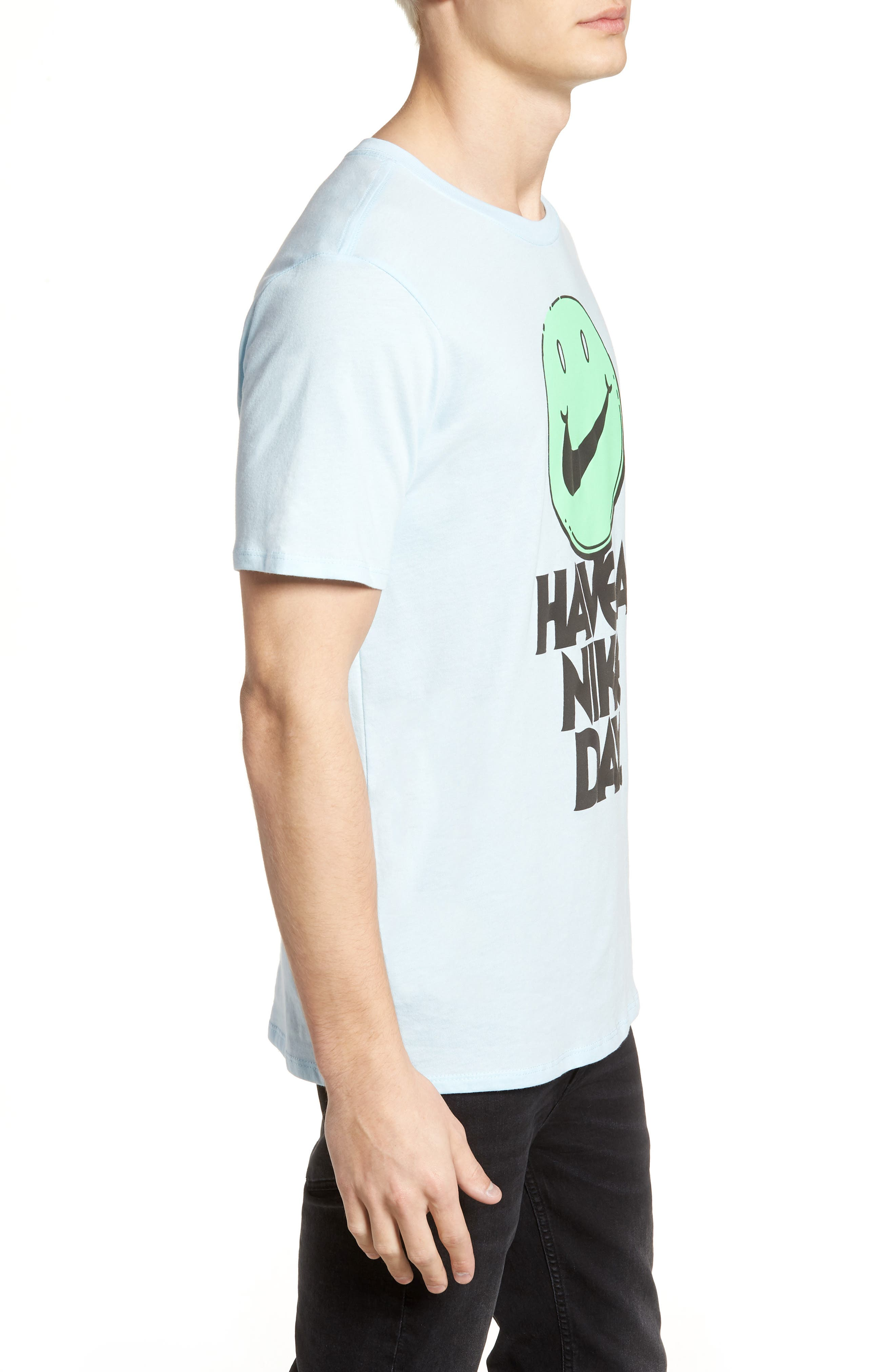 Concept Graphic T-Shirt,                             Alternate thumbnail 3, color,                             Cobalt Tint/ Illusion Green