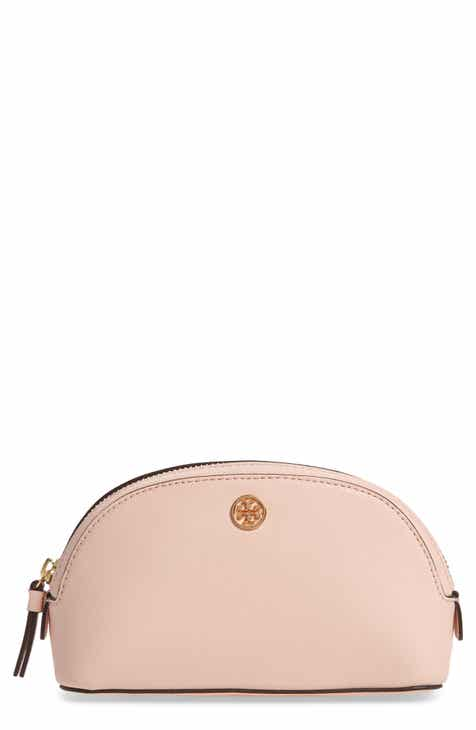 Tory Burch Robinson Small Leather Cosmetic Bag 957579a96a