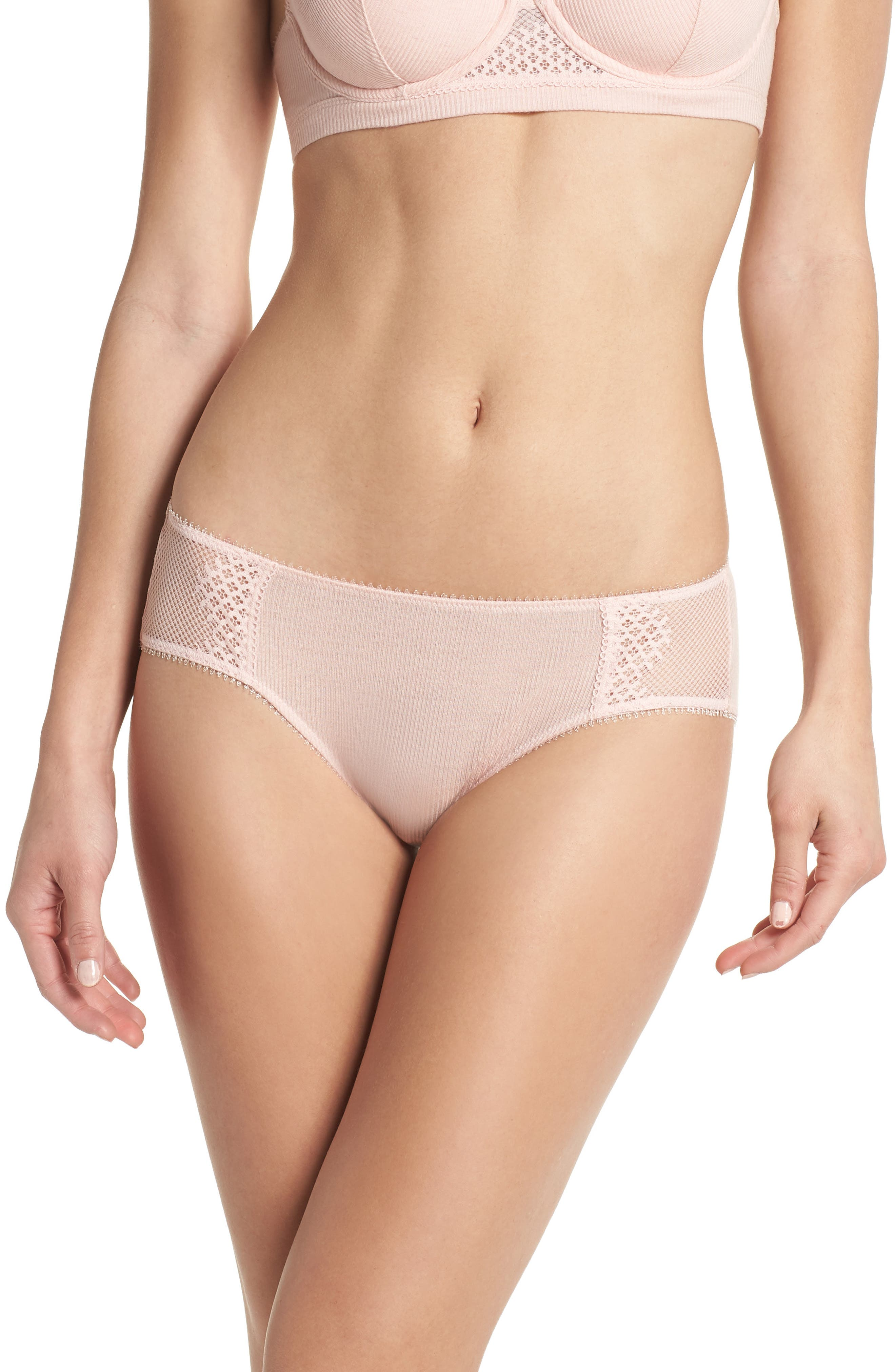 Low Rise Hipster Panties,                         Main,                         color, Blush