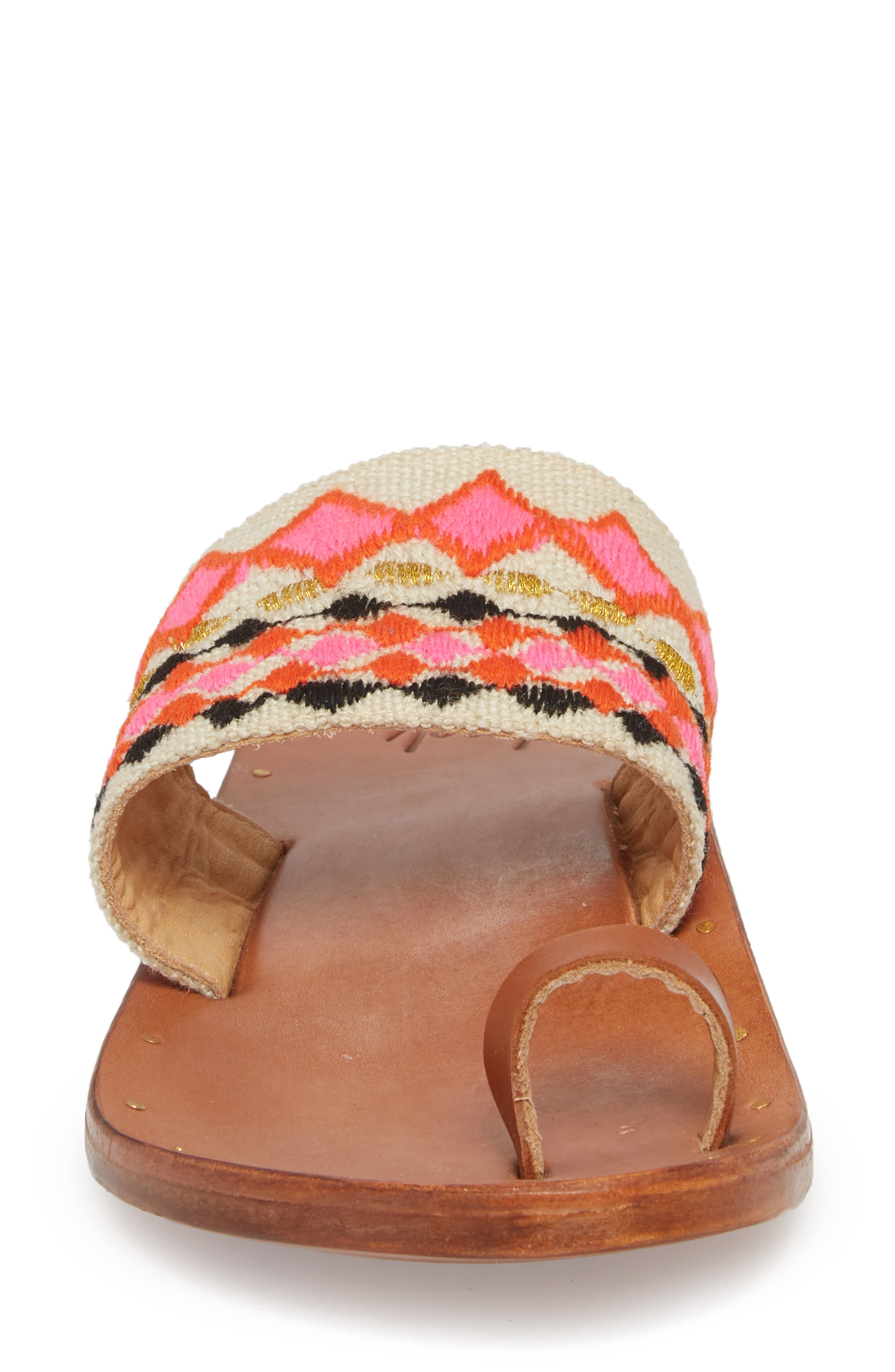 Dove Sandal,                             Alternate thumbnail 4, color,                             Fuschia Multi/ Tan