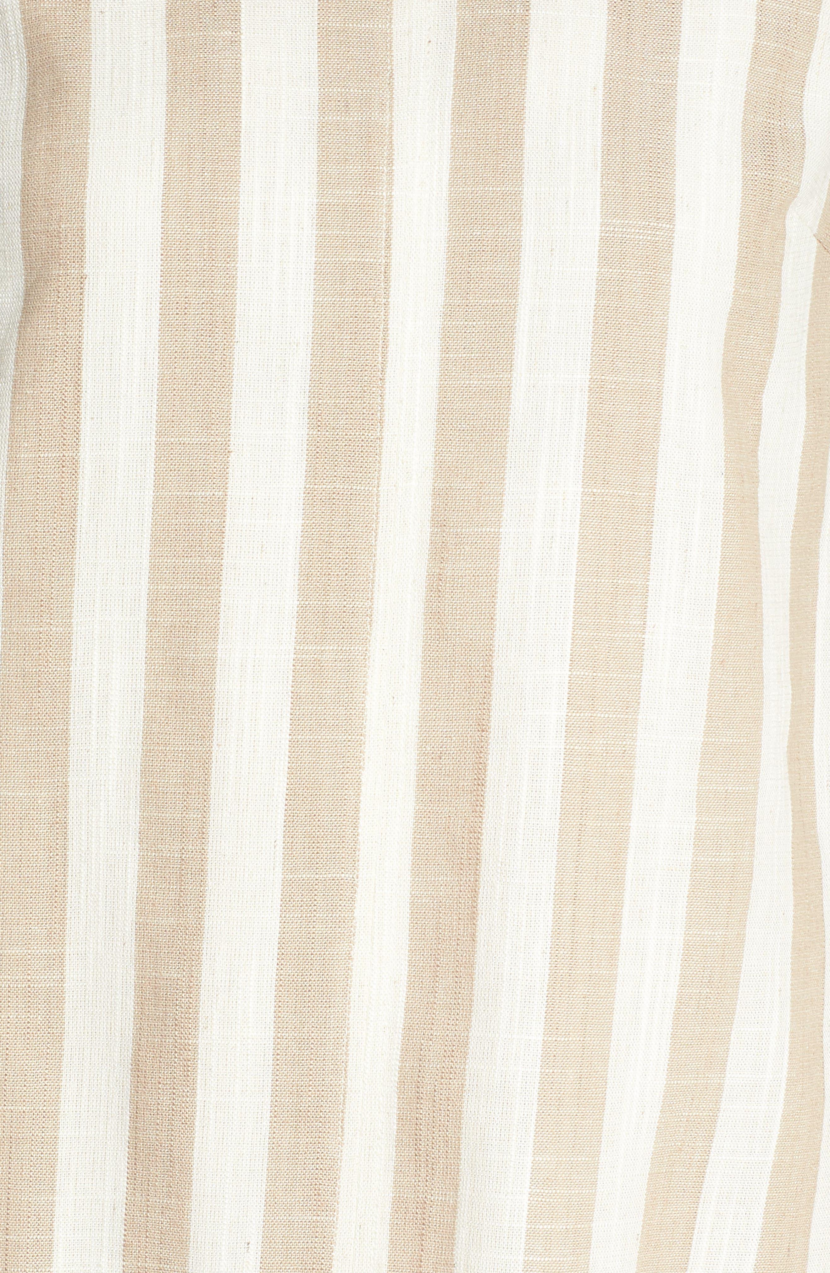 Back Tie Detail Shift Dress,                             Alternate thumbnail 6, color,                             Natural