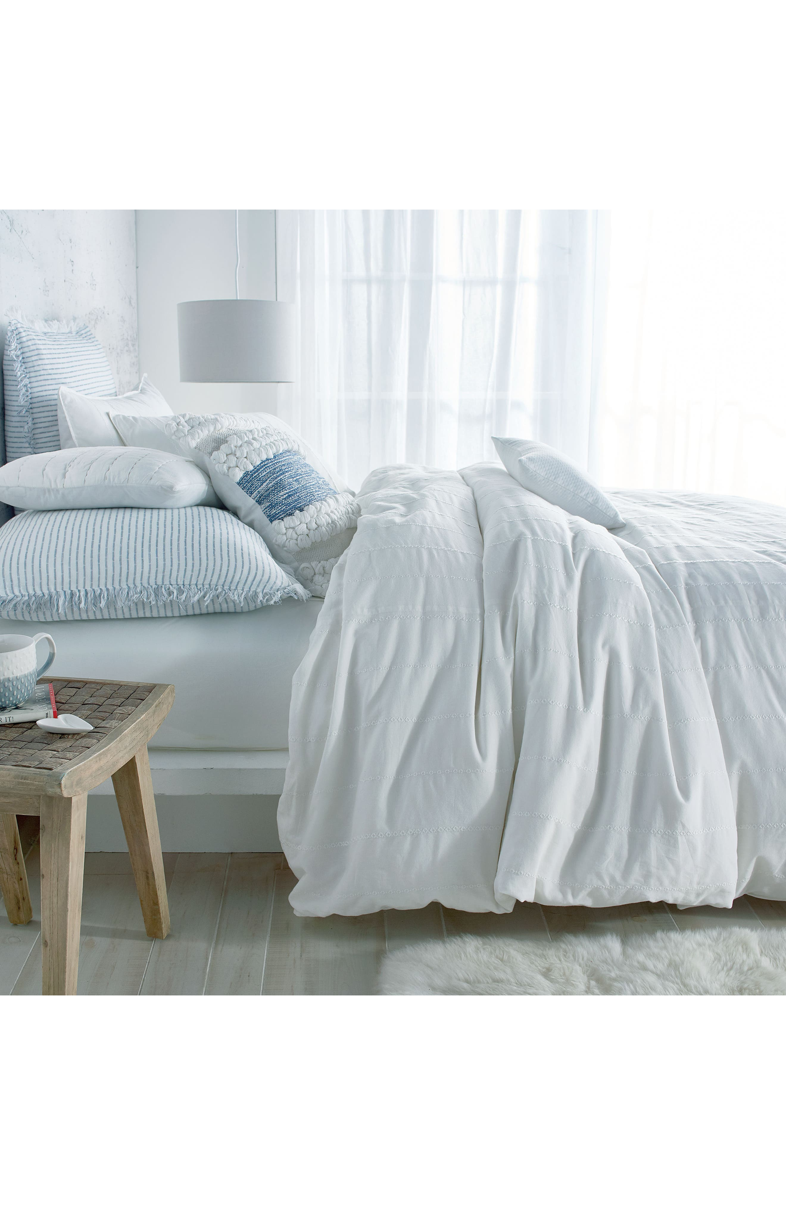 Alternate Image 4  - DKNY Pure Eyelet Voile Duvet Cover