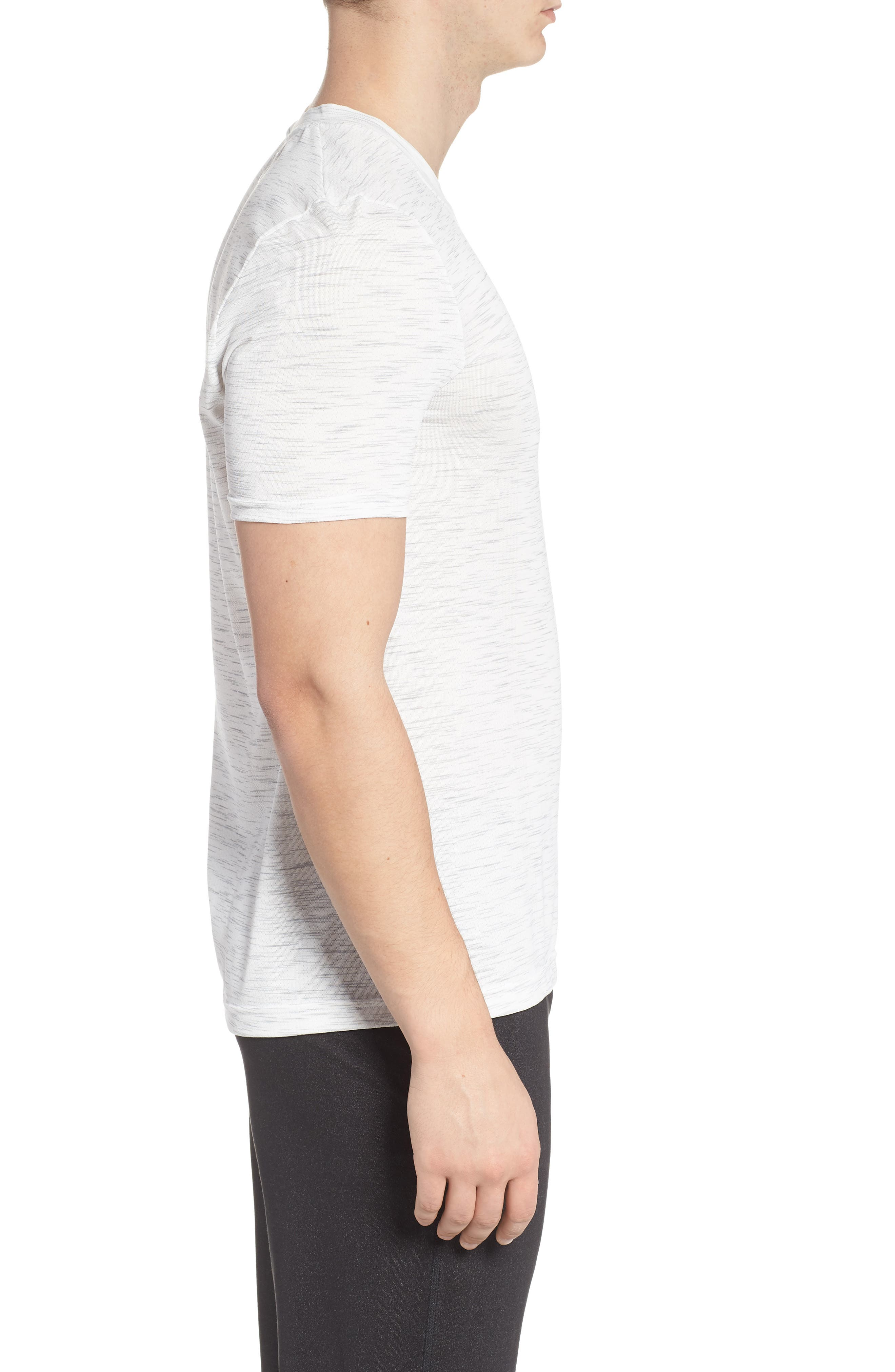 Regular Fit Threadborne T-Shirt,                             Alternate thumbnail 3, color,                             White
