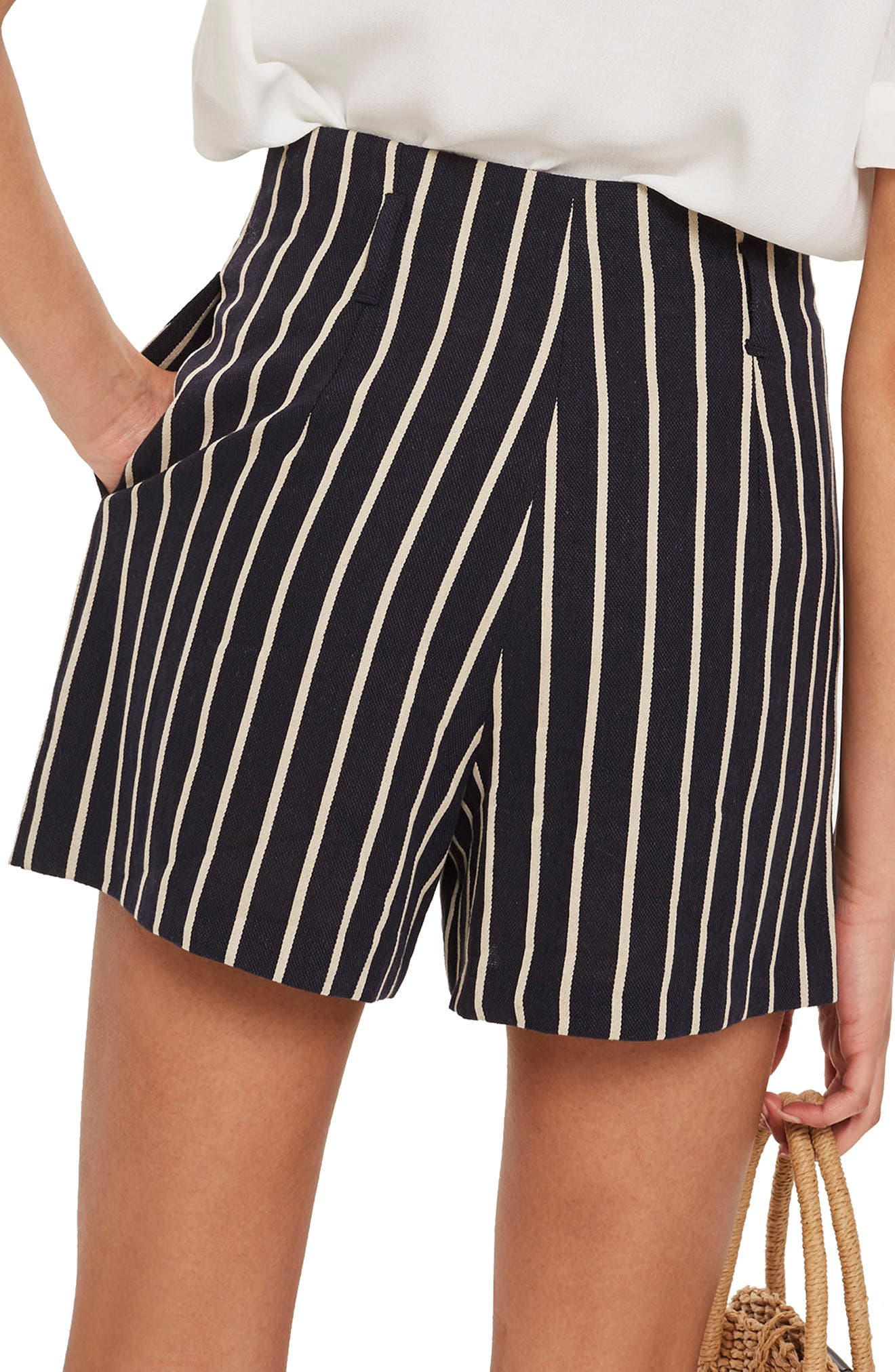 Stripe Shorts,                             Alternate thumbnail 2, color,                             Navy Blue