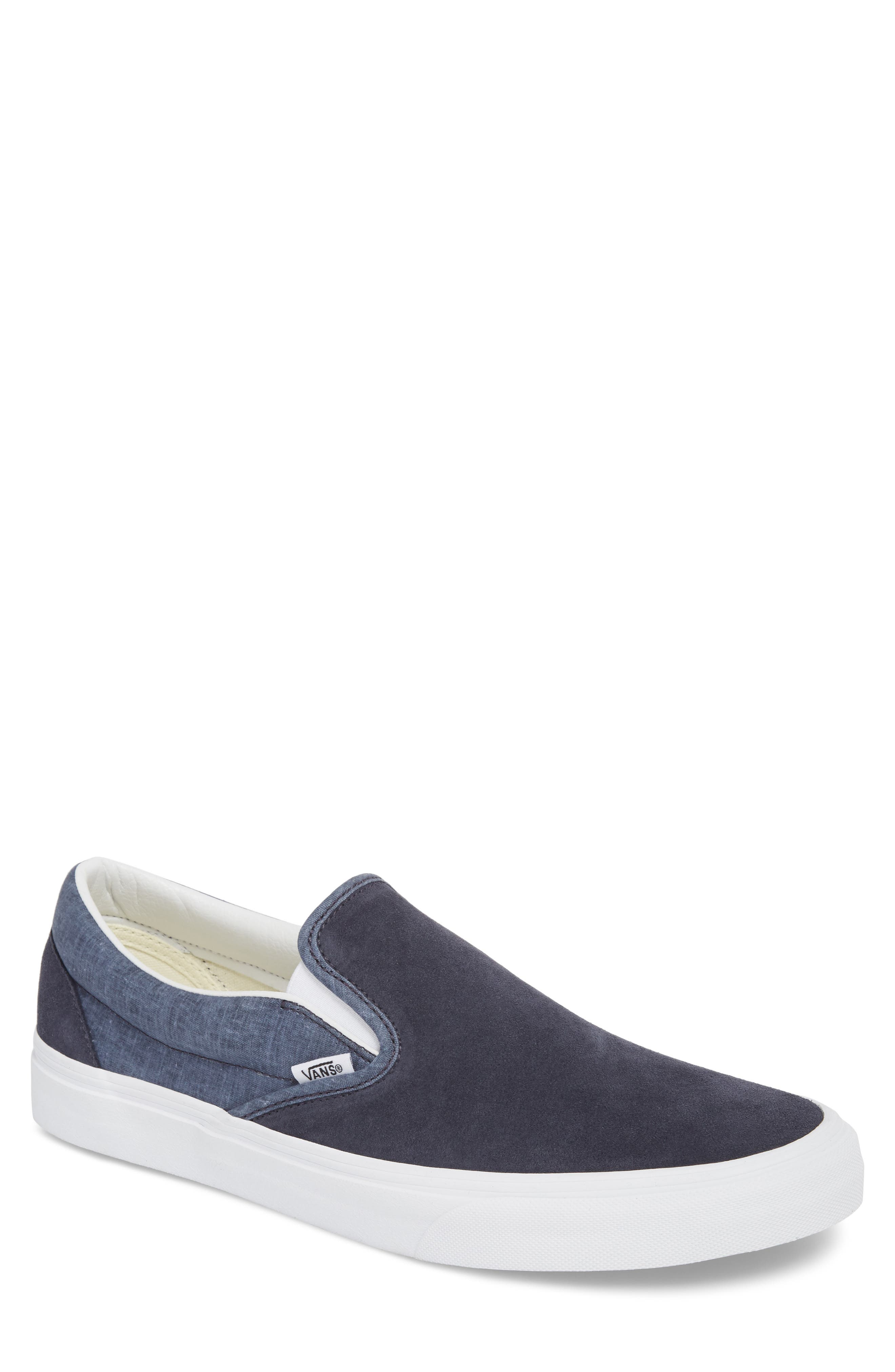 'Classic' Slip-On Sneaker,                             Main thumbnail 1, color,                             Parisian Night Suede