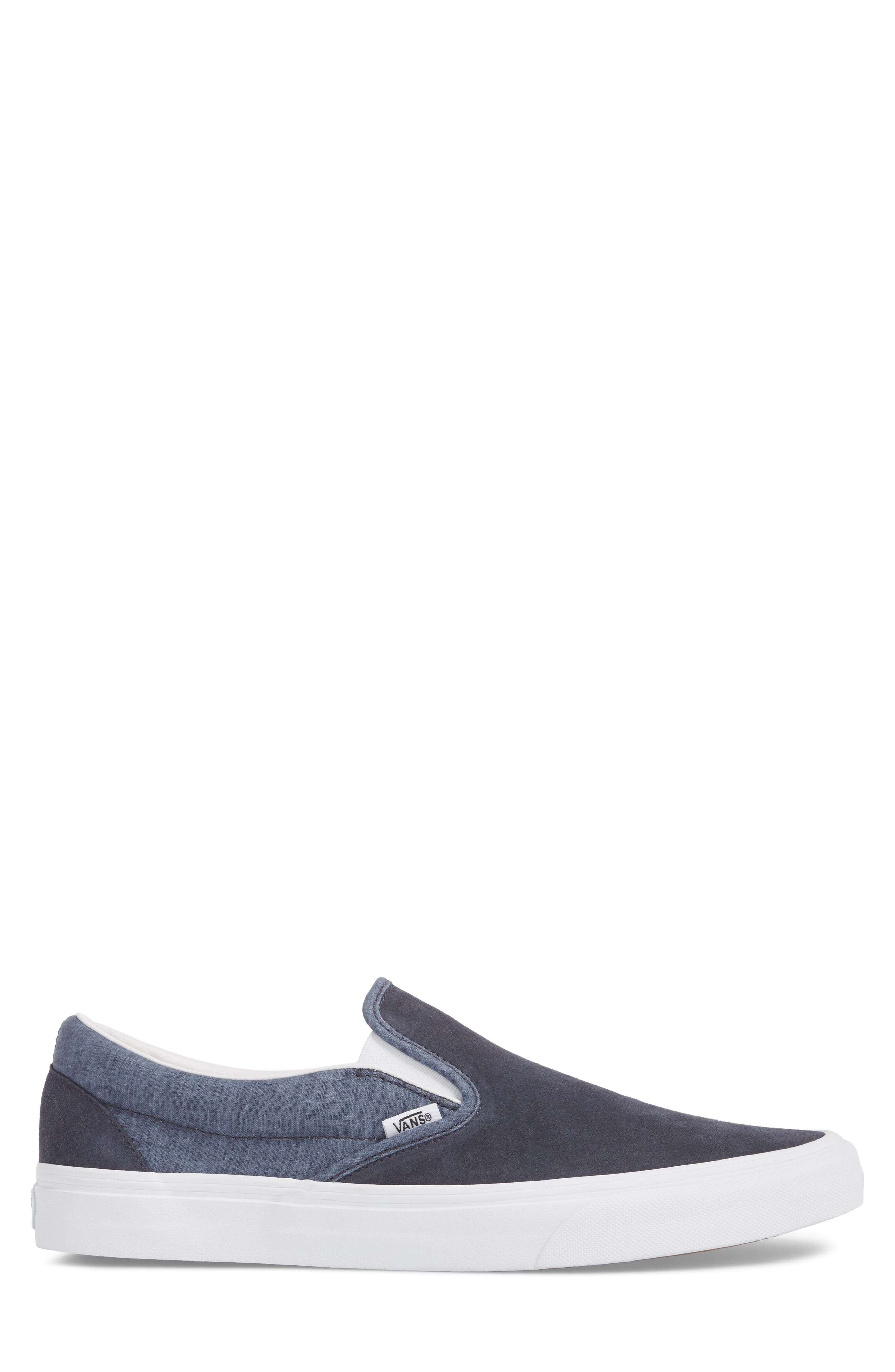 'Classic' Slip-On Sneaker,                             Alternate thumbnail 6, color,                             Parisian Night Suede