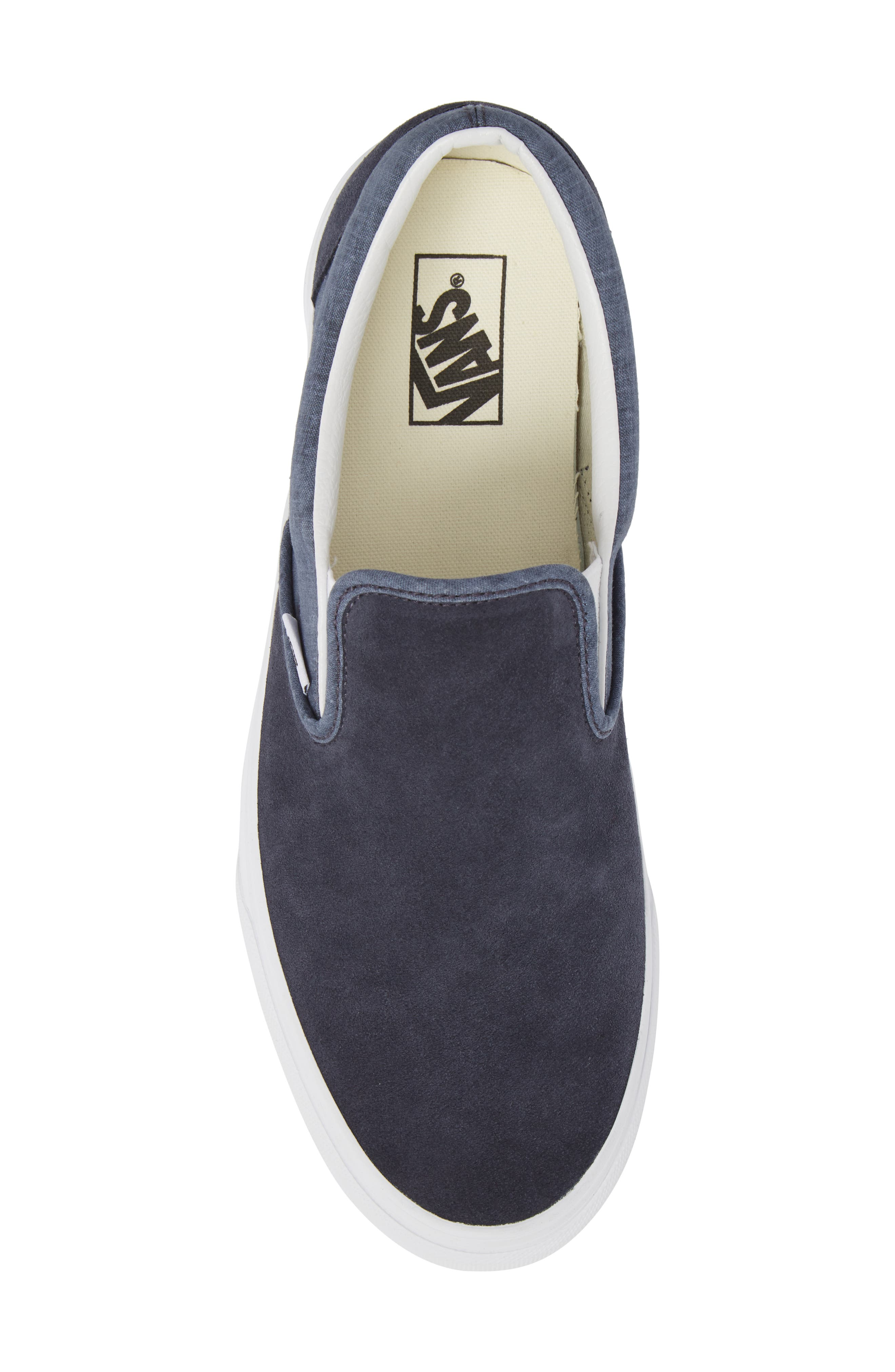 'Classic' Slip-On Sneaker,                             Alternate thumbnail 4, color,                             Parisian Night Suede