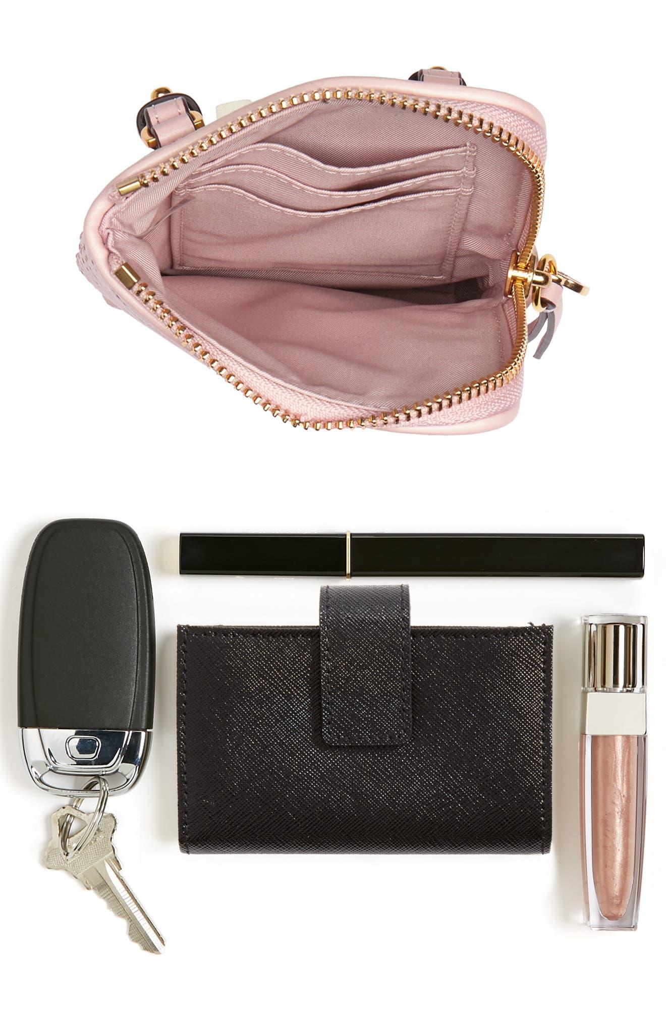 Fleming Lambskin Leather Phone Crossbody Bag,                             Alternate thumbnail 7, color,