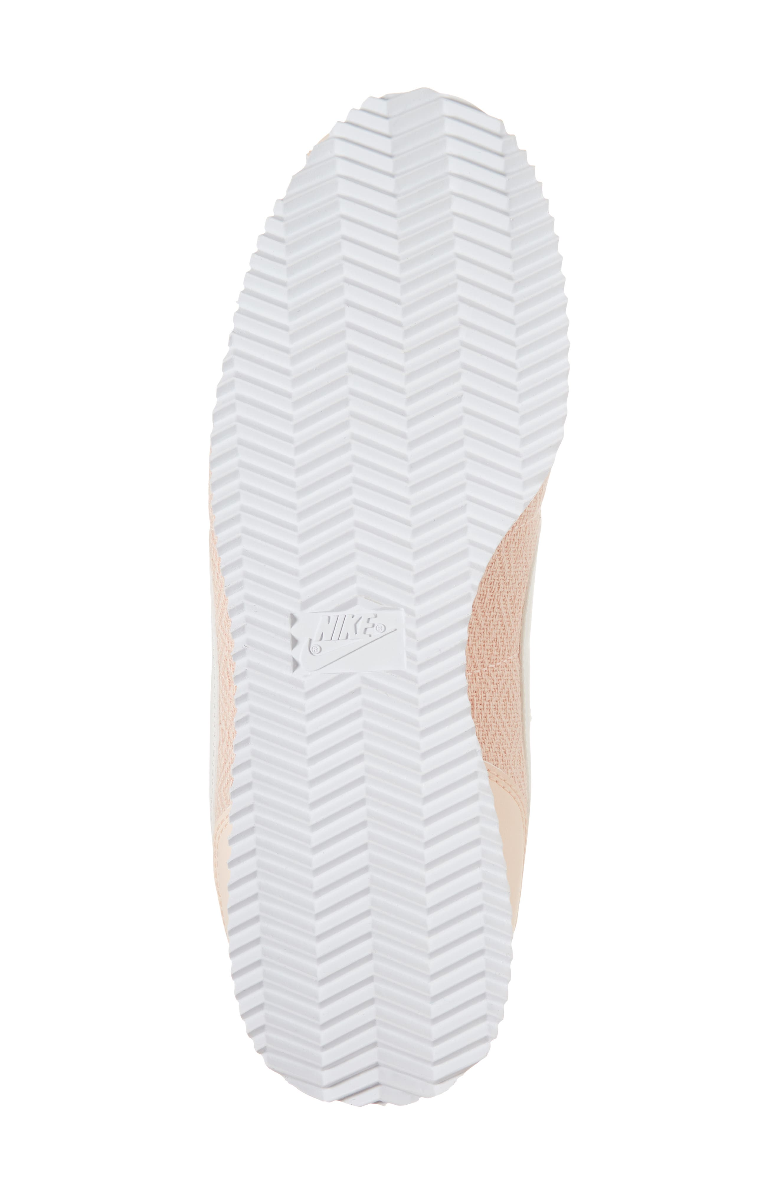 Cortez Basic TXT SE Sneaker,                             Alternate thumbnail 6, color,                             Crimson Tint/ Sail/ White