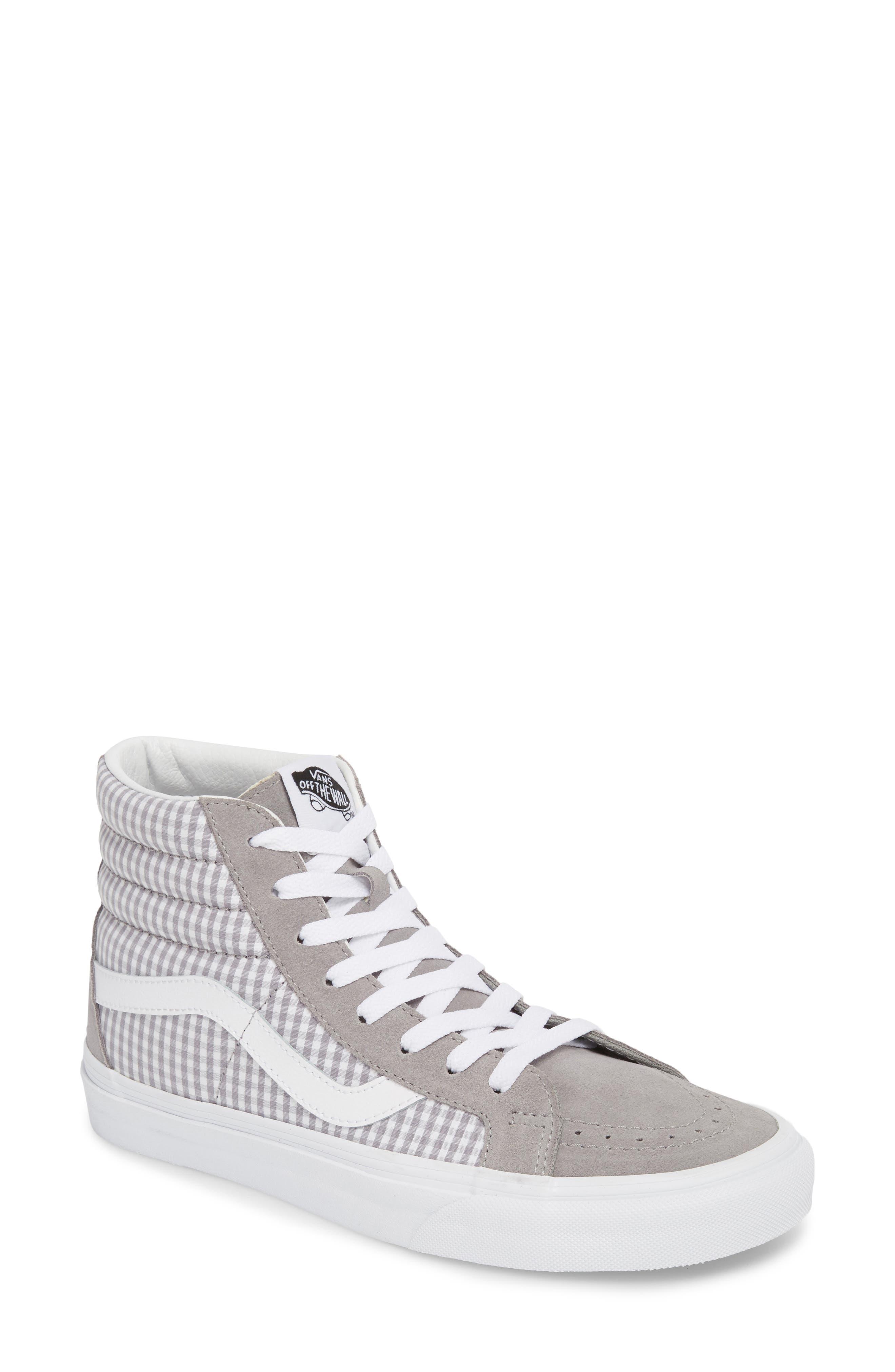'Sk8-Hi Reissue' Sneaker,                             Main thumbnail 1, color,                             Titanium/ True White